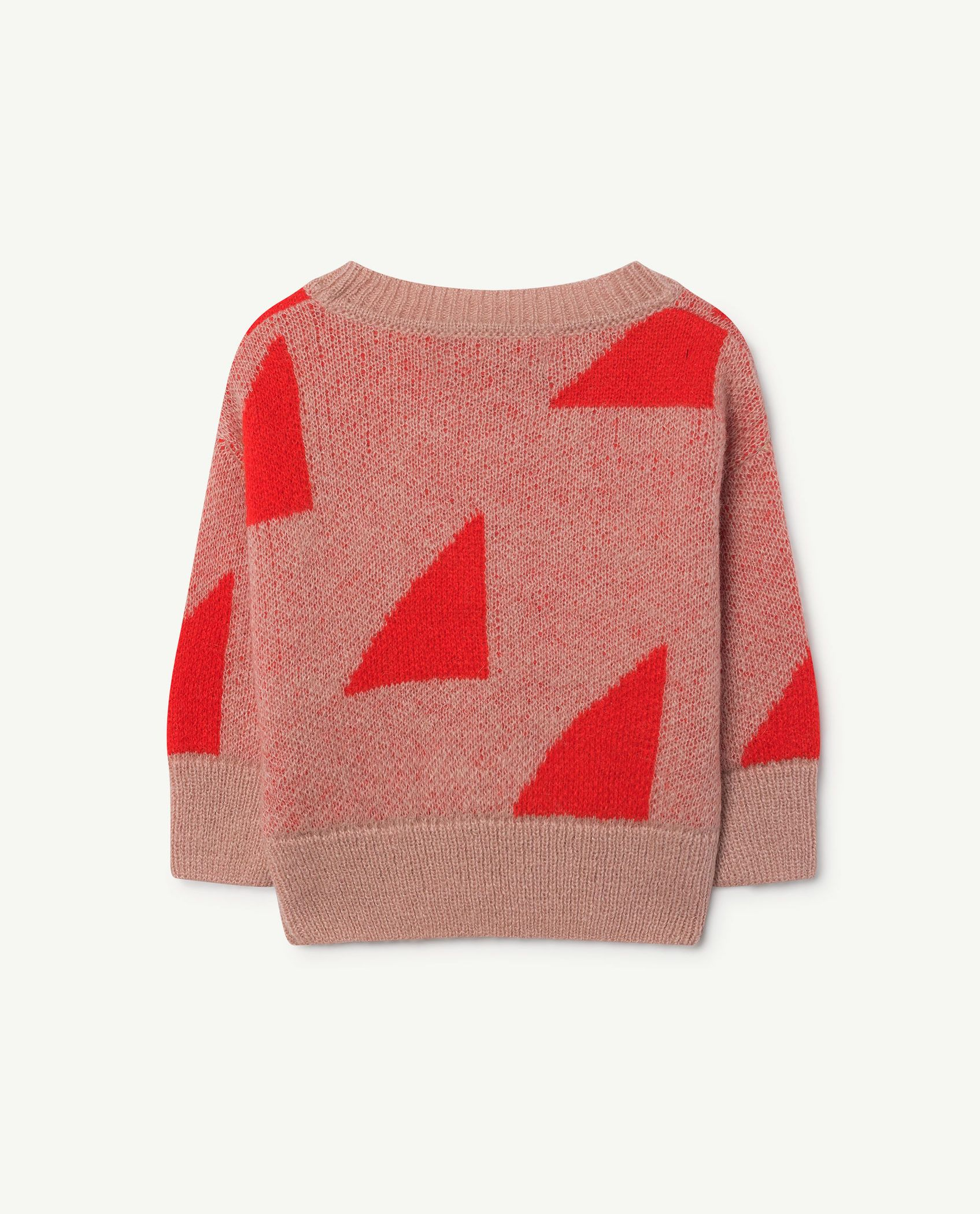 Red Geometric Bull Sweater img-2