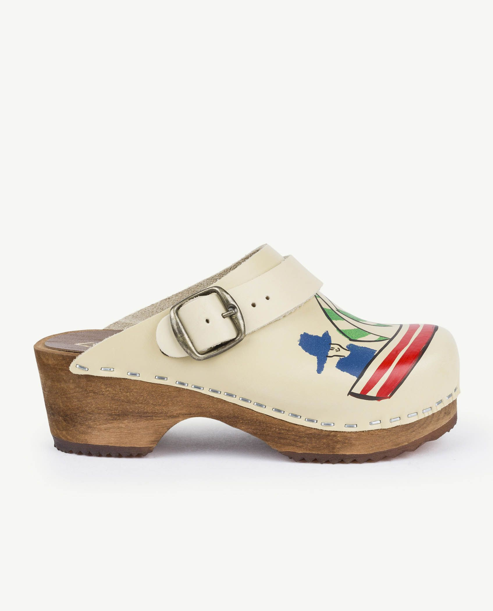 White Clogs Shoes img-3