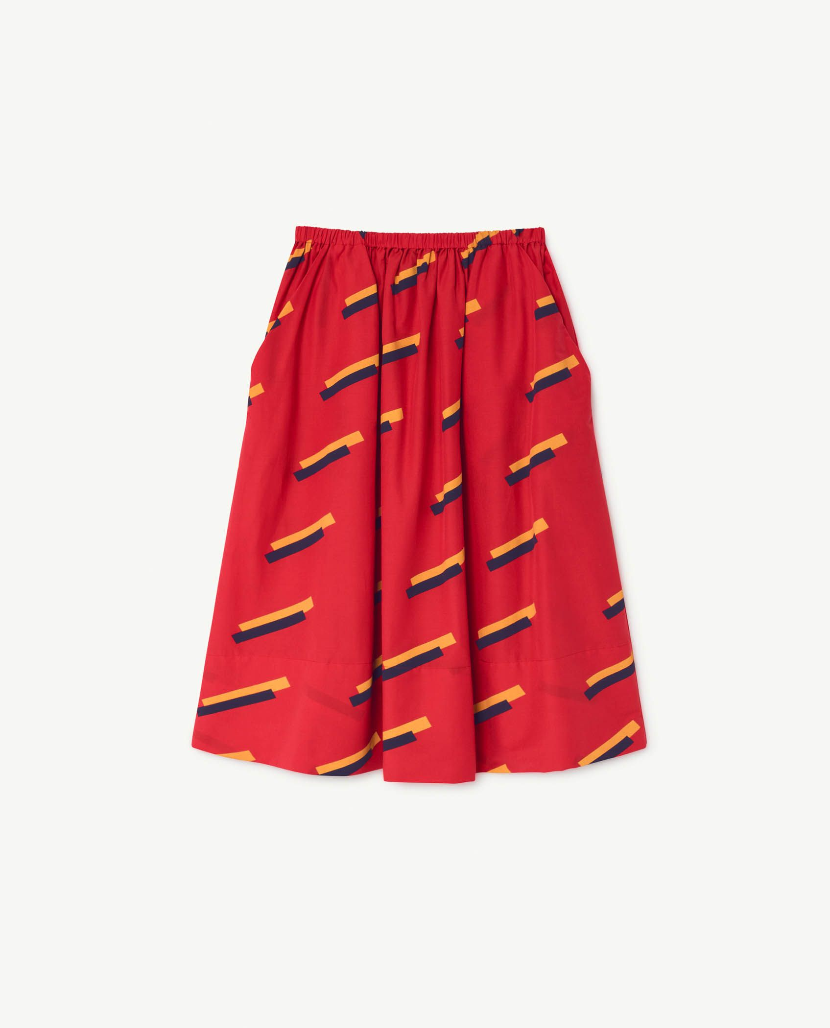 Red 80's Sow Skirt img-1