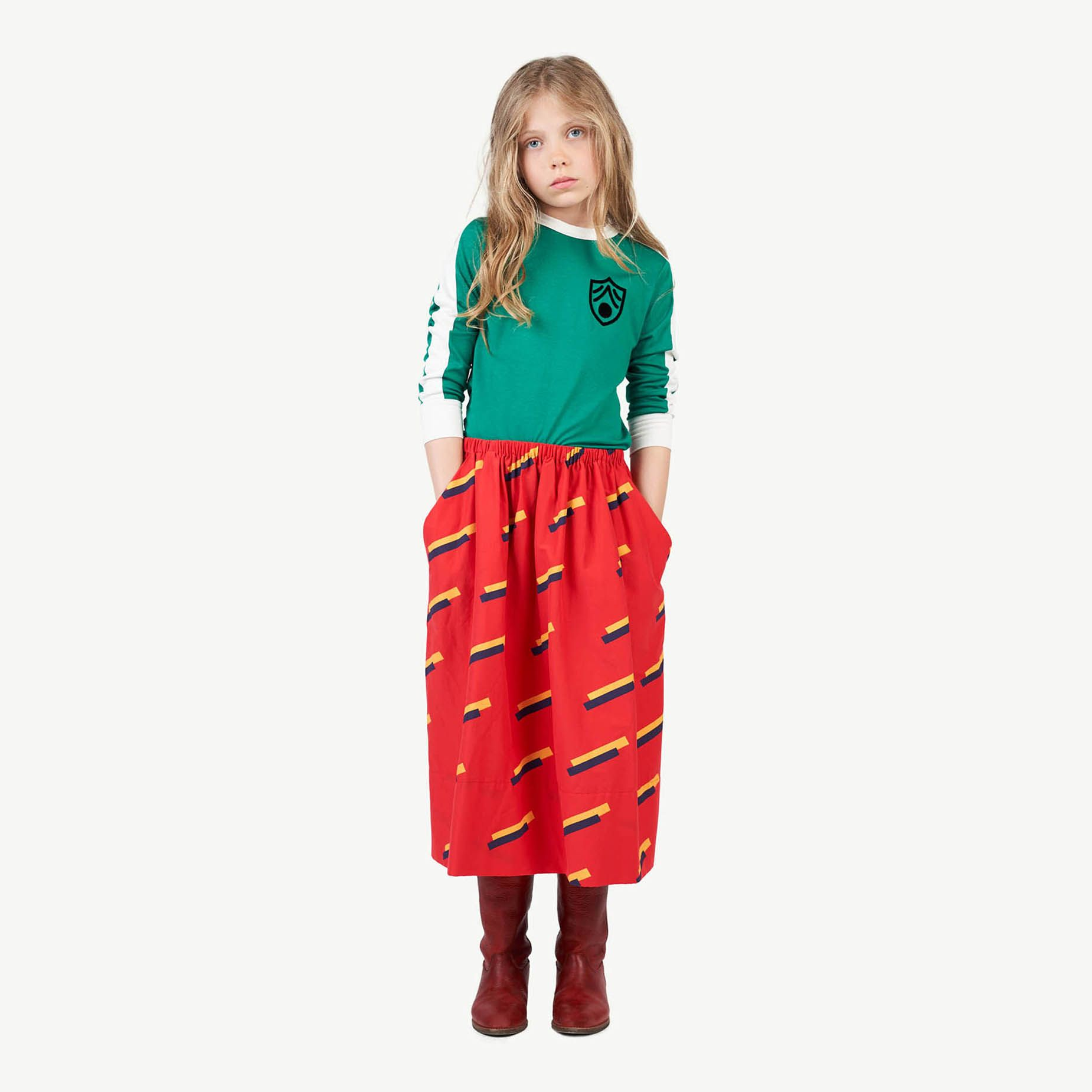 Red 80's Sow Skirt img-4
