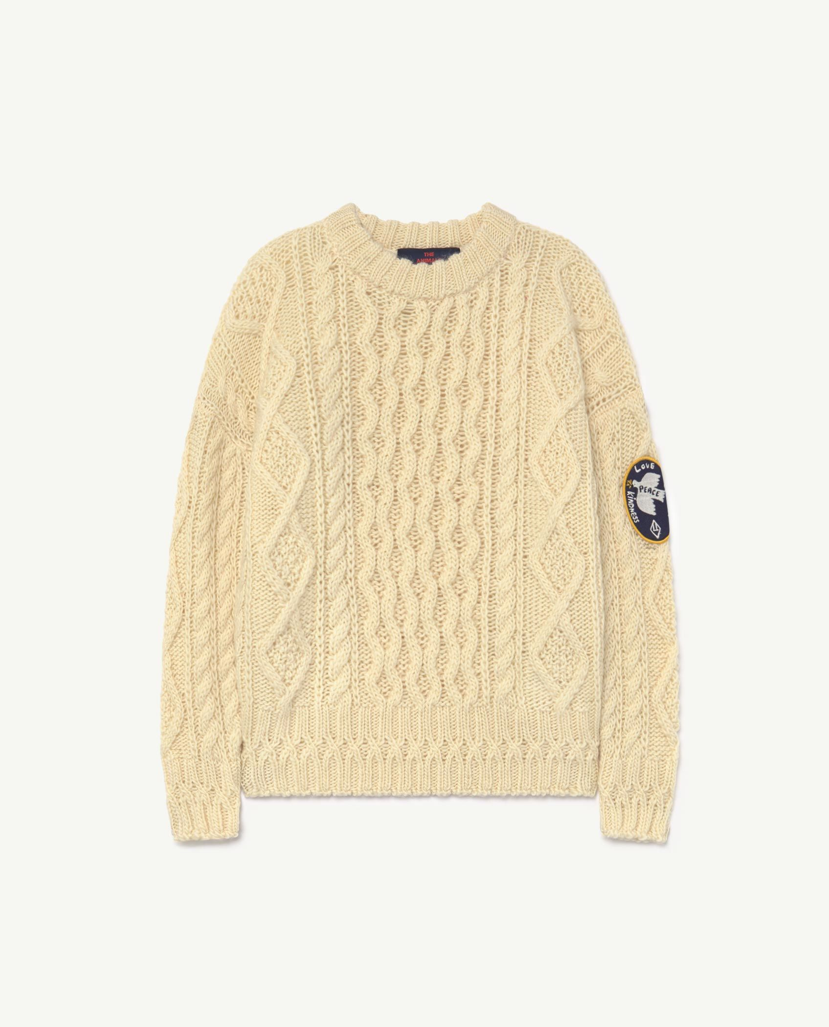 Raw White Blowfish Sweater img-1