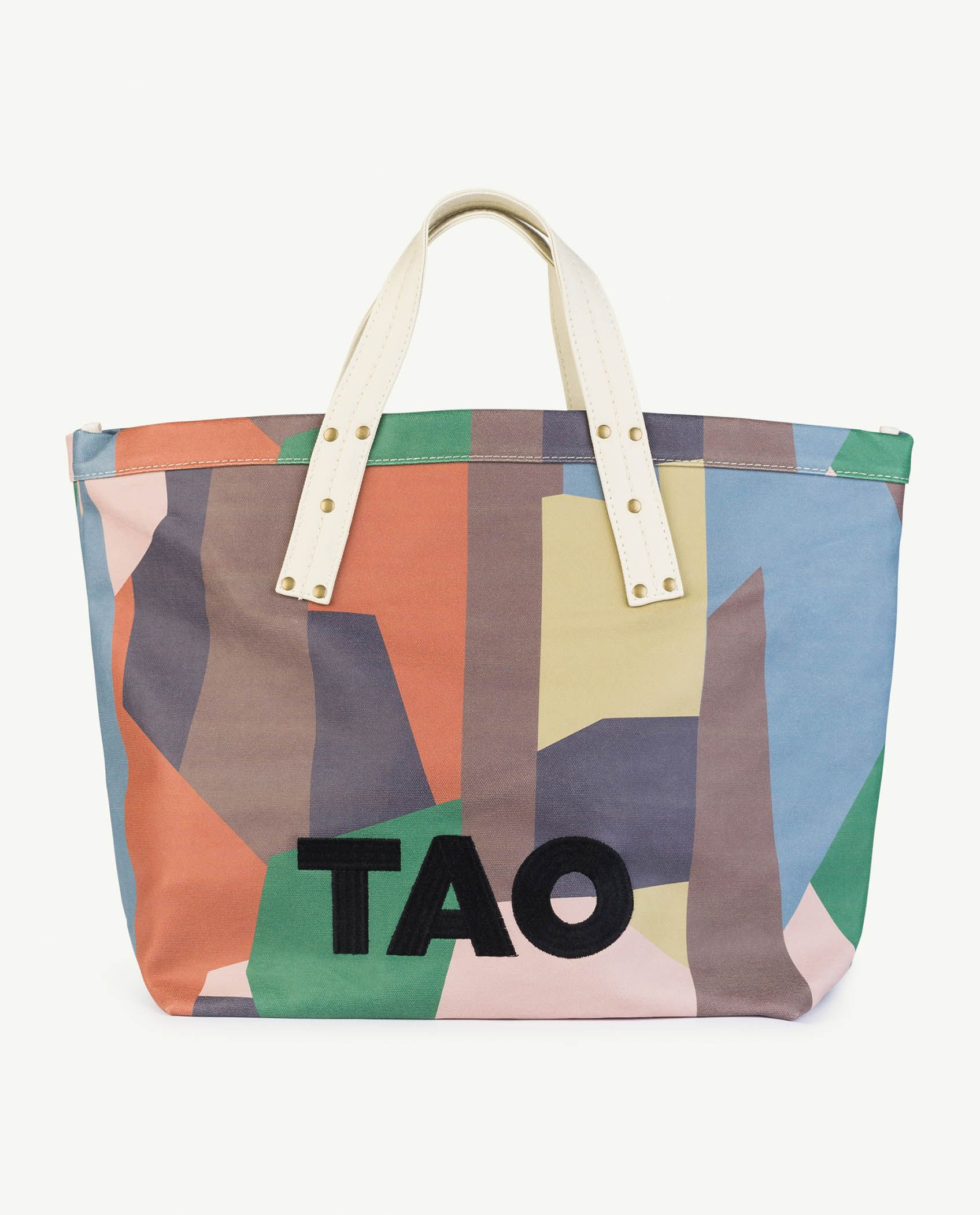 Multicolor Geometric Totebag img-1