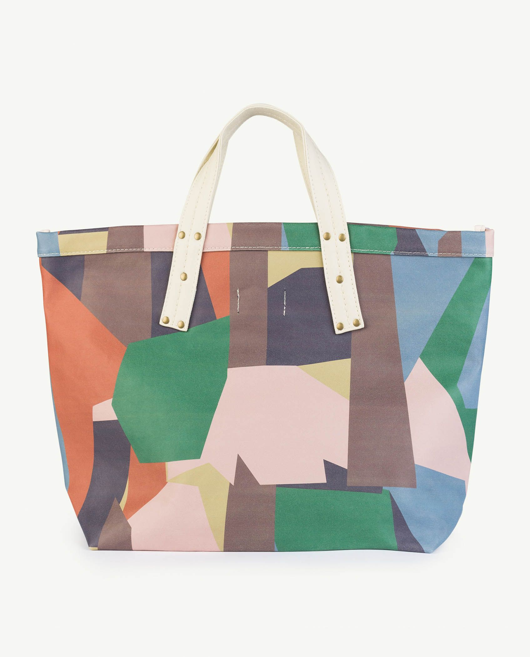 Multicolor Geometric Totebag img-2