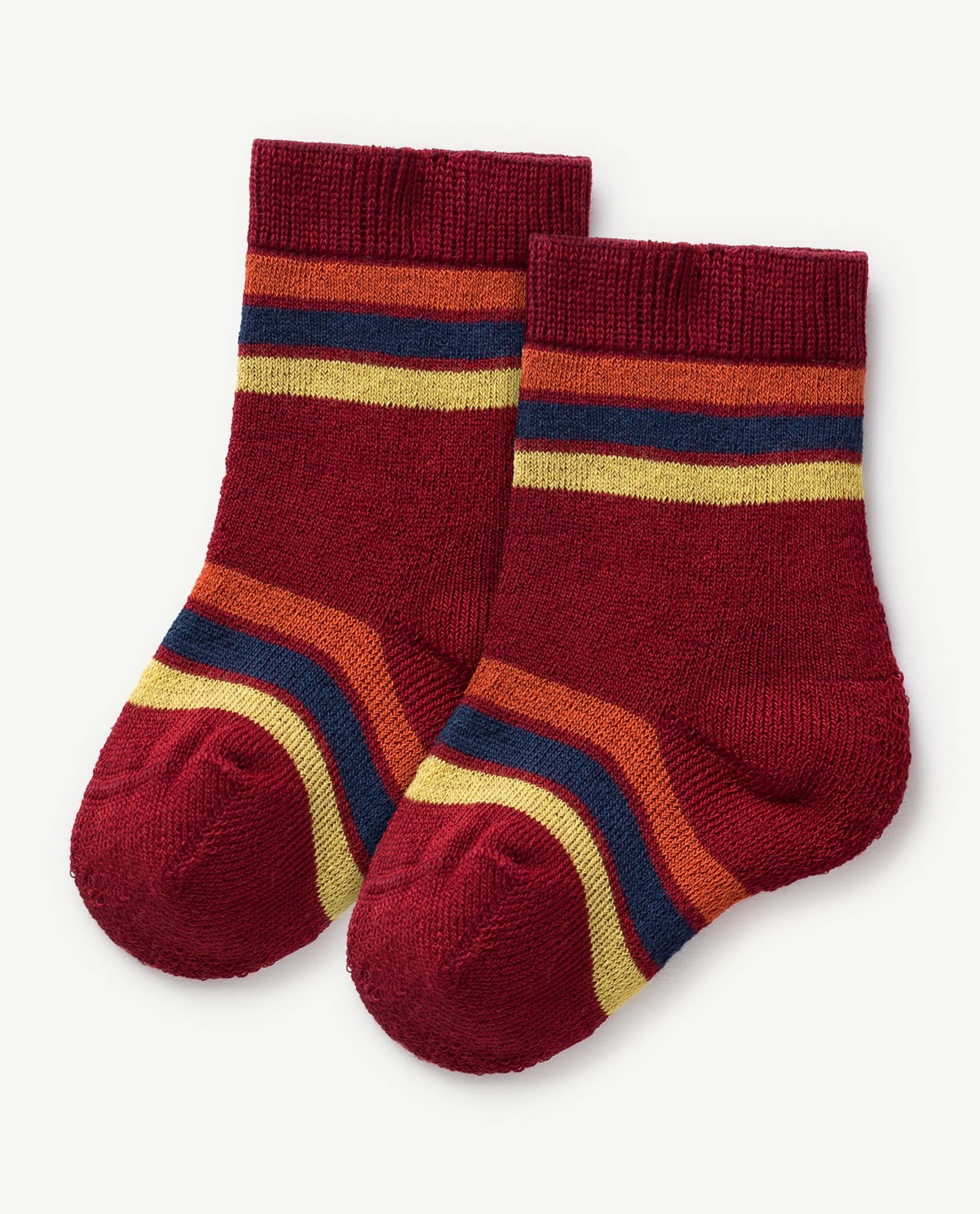Deep Red Baby Snail Socks img-1