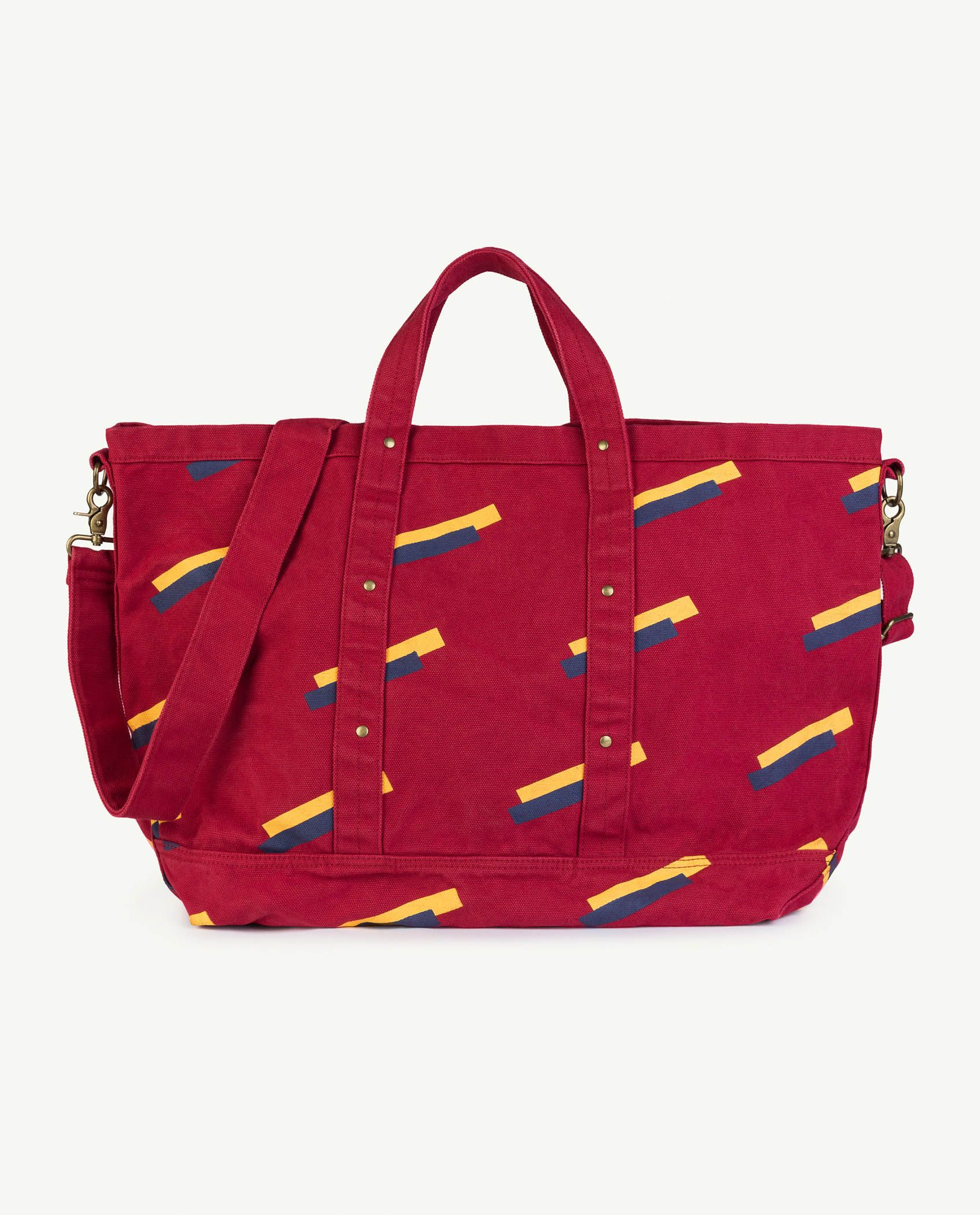 Red Apple 80's Canvas Bag img-1
