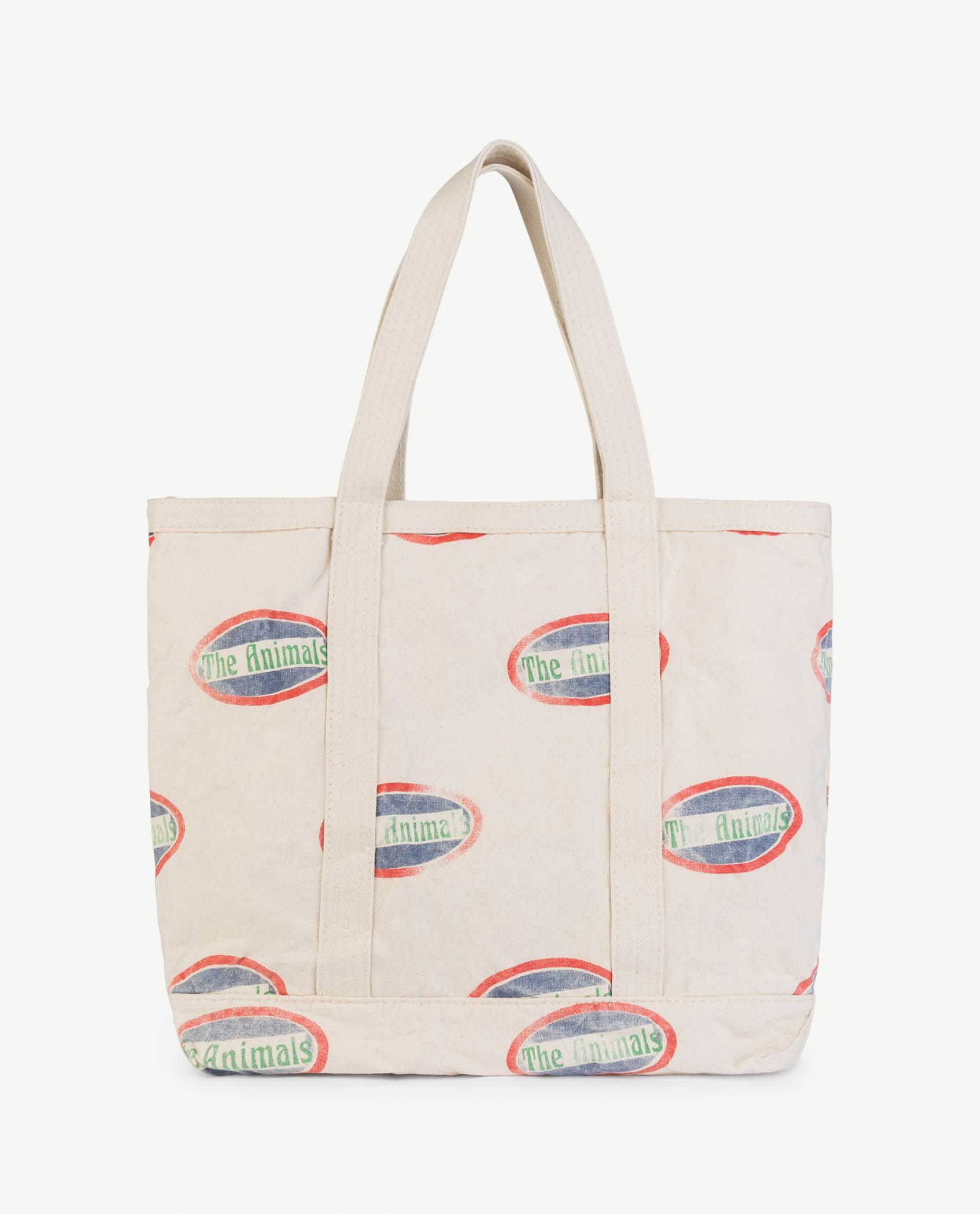 Raw White Animals Straps Tote Bag img-1