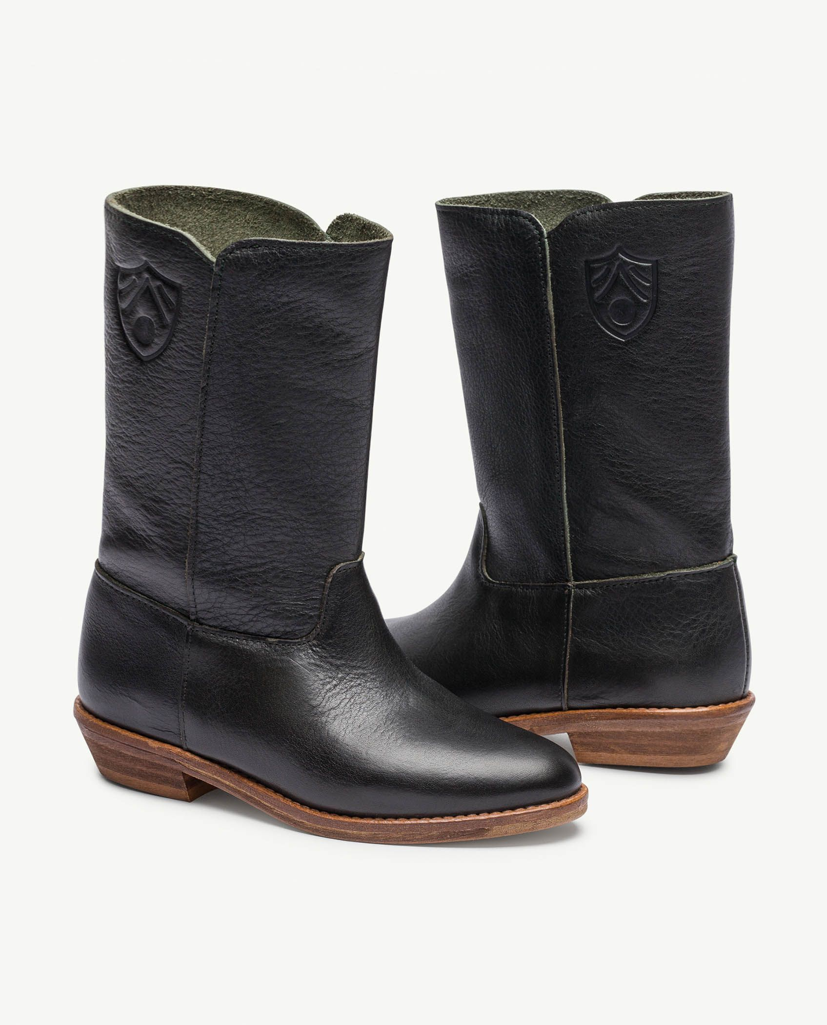 Black Logo Coyote Boots img-1
