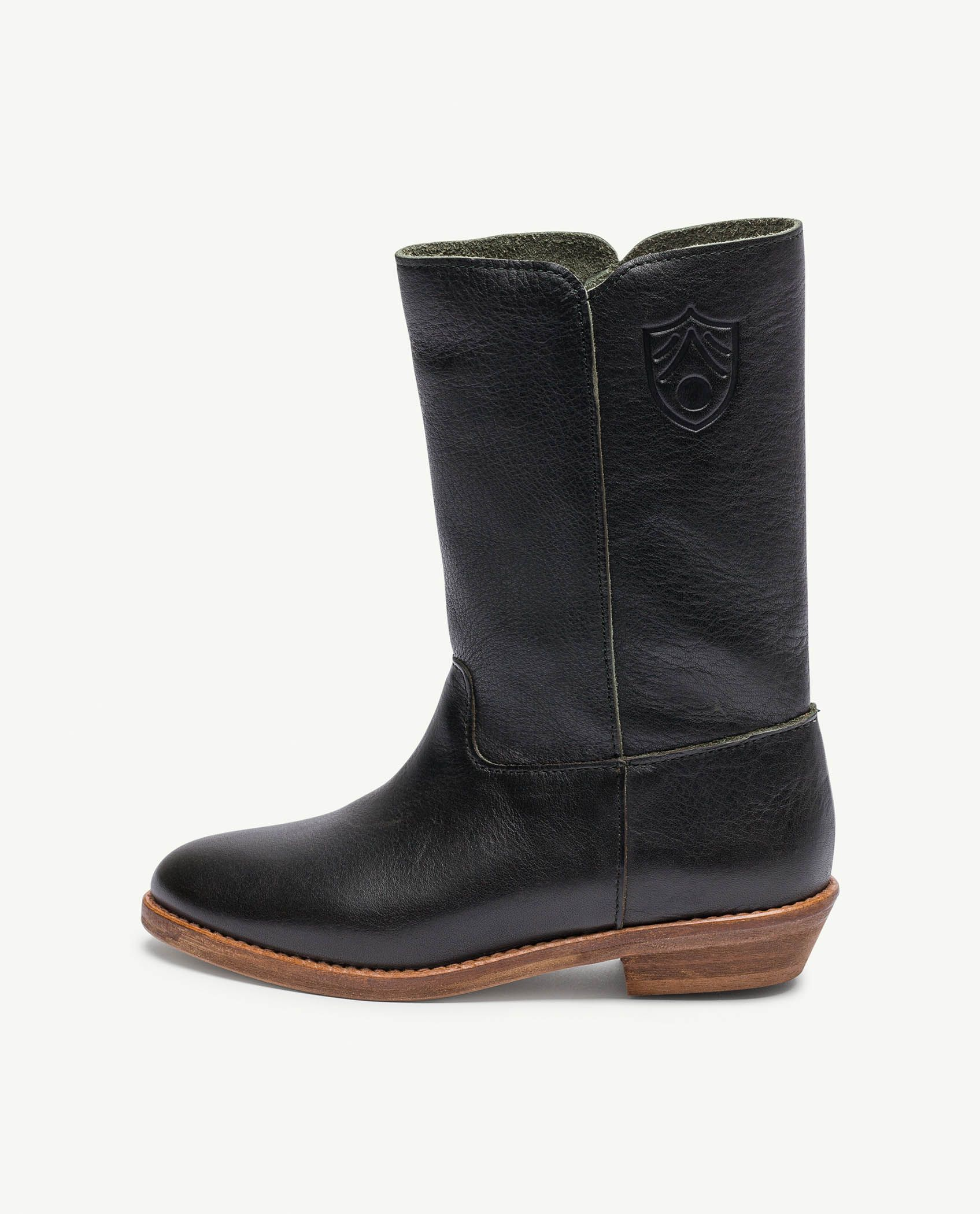 Black Logo Coyote Boots img-2