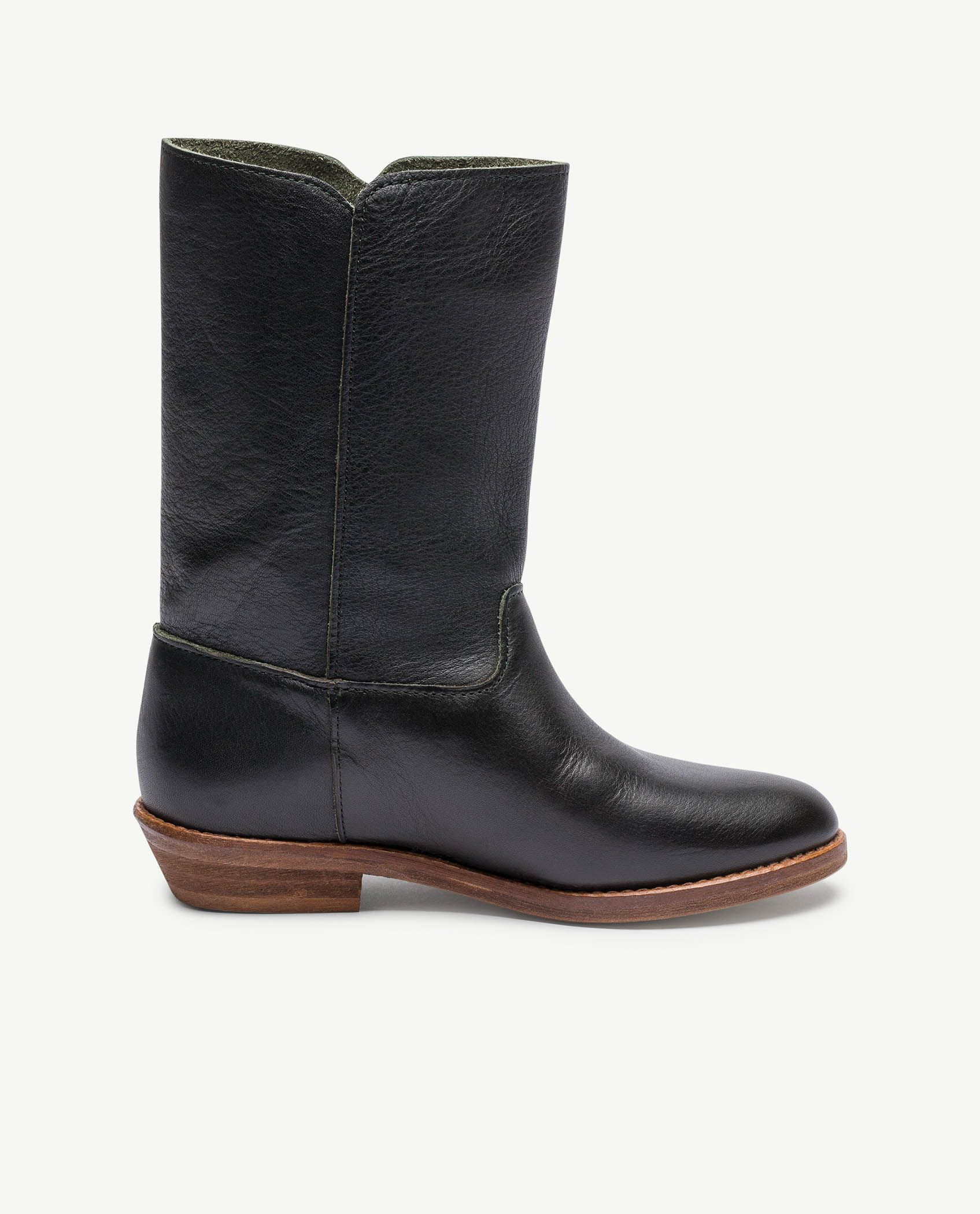 Black Logo Coyote Boots img-3