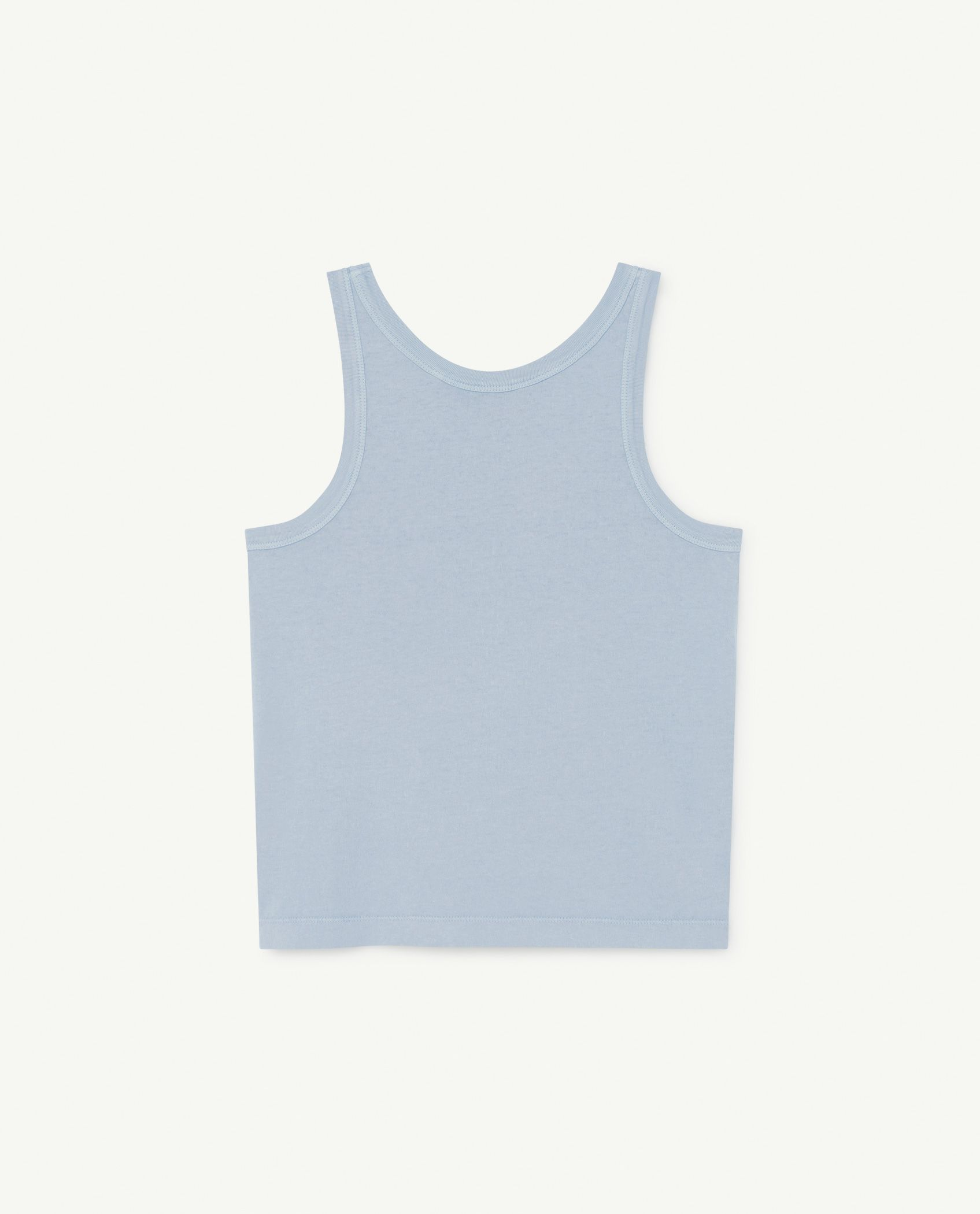 Pale Blue Frog Tank Top img-2