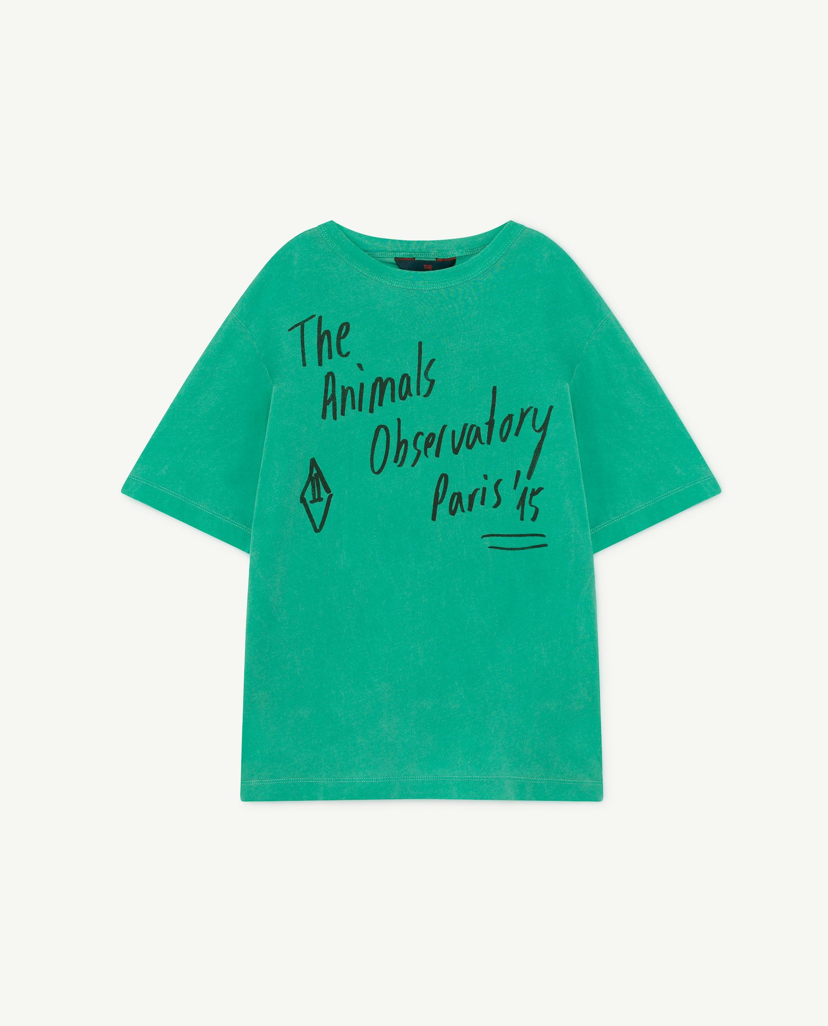 Green Oversize Rooster T-Shirt img-1