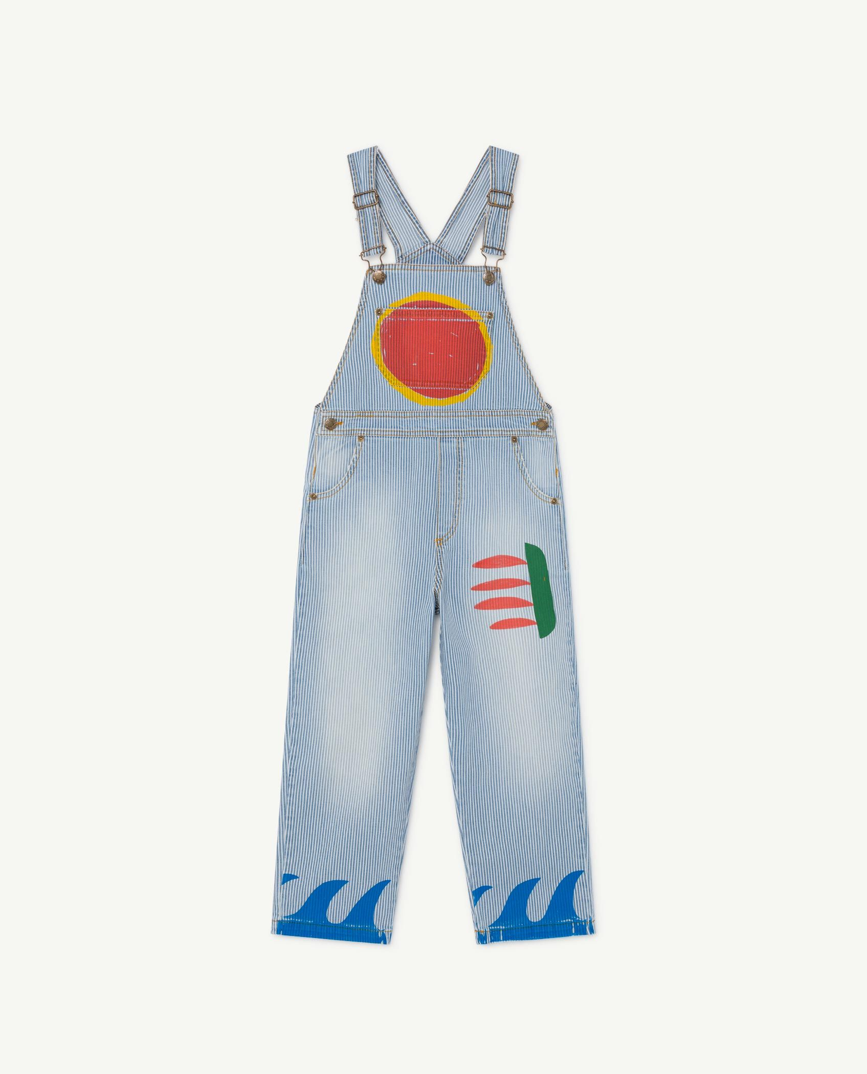Striped Mule Dungaree img-1