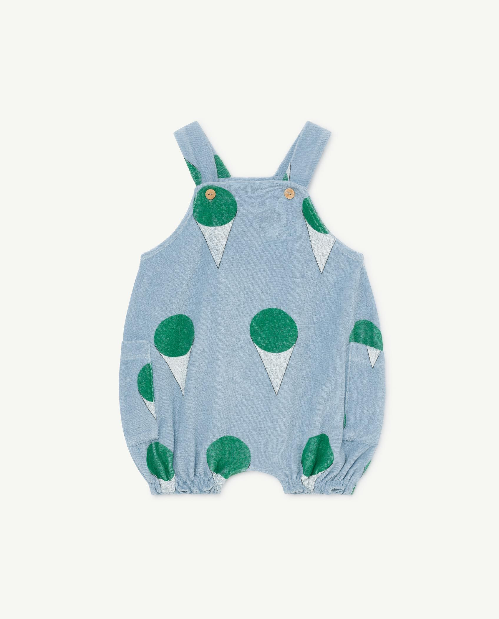 Pale Blue Boar Baby Dungaree img-1