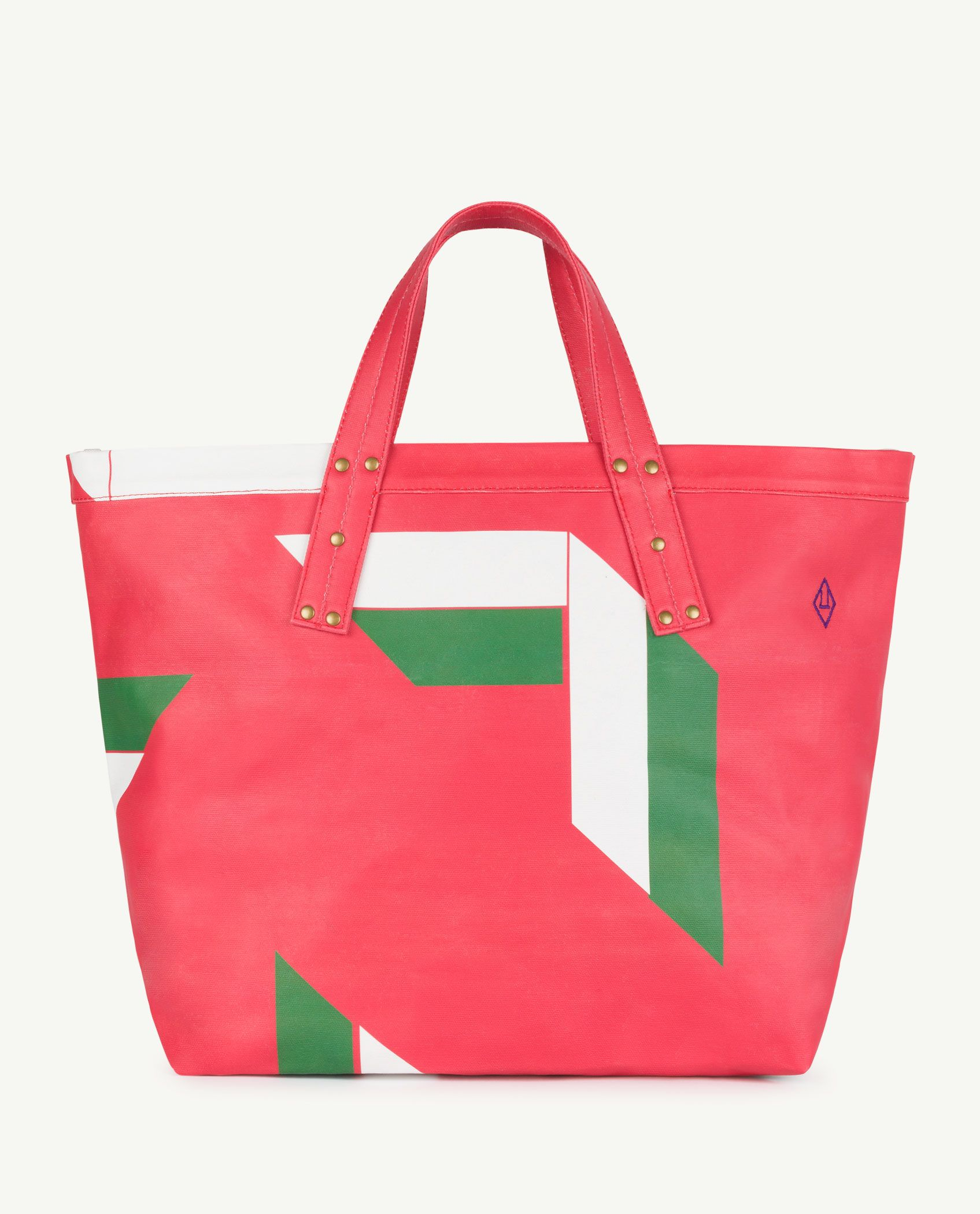 Red Canvas Tote Bag img-1