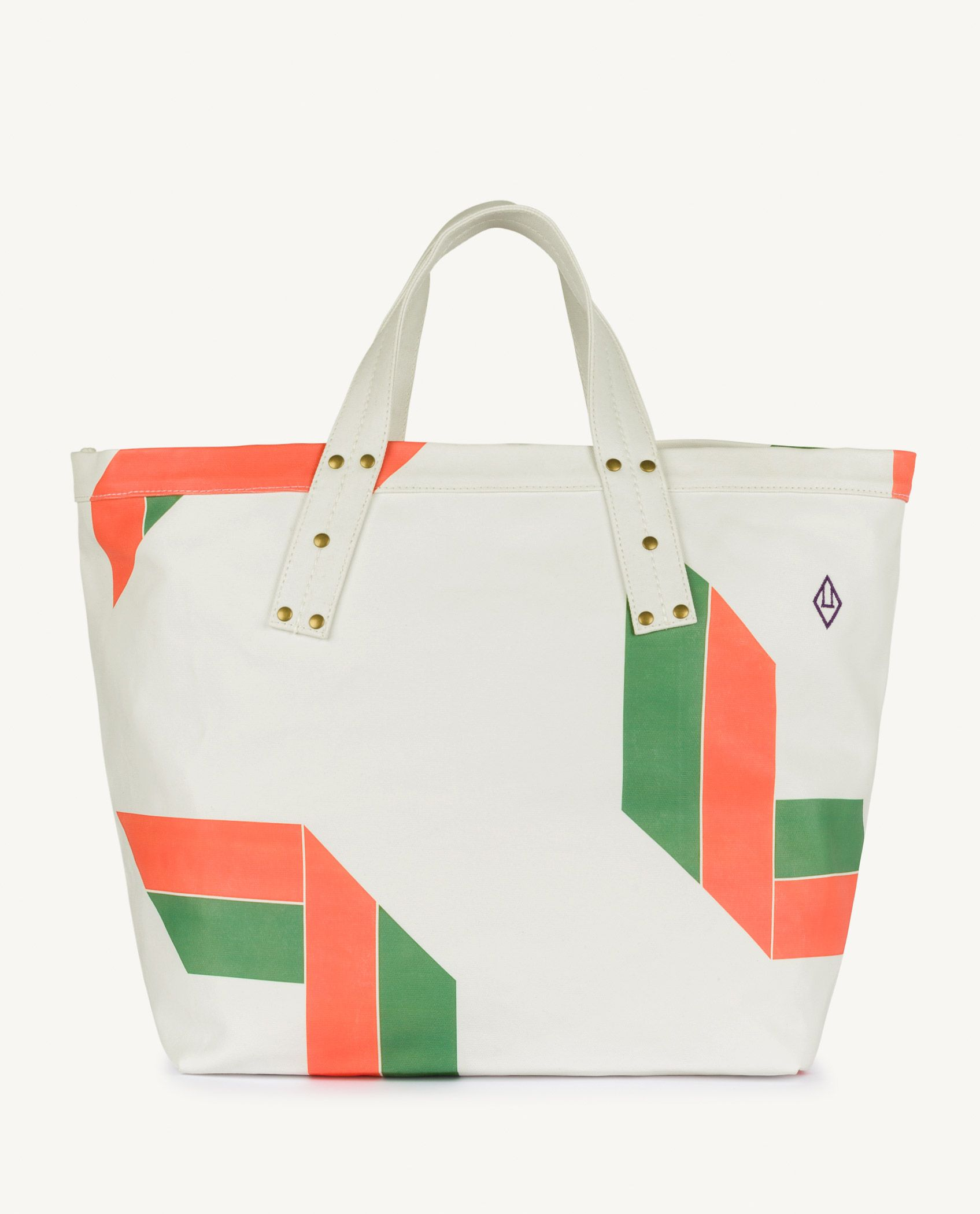White Canvas Tote Bag img-1