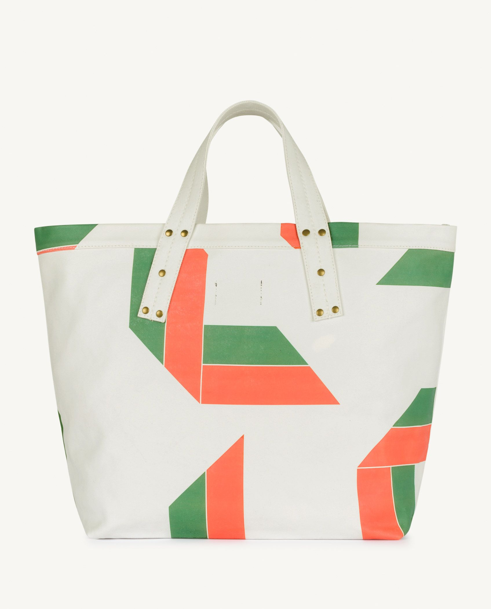 White Canvas Tote Bag img-2