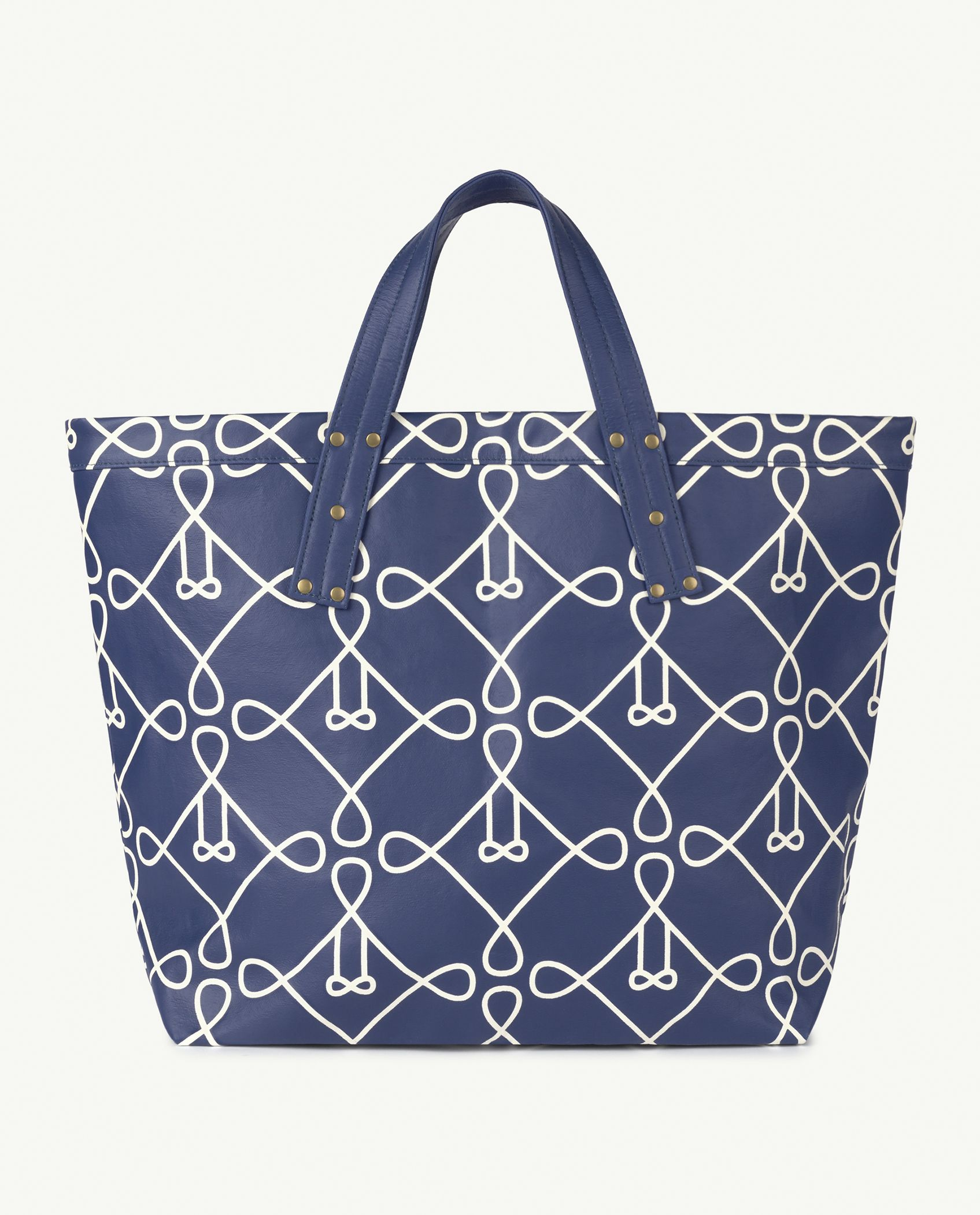 Blue Canvas Tote Bag img-1