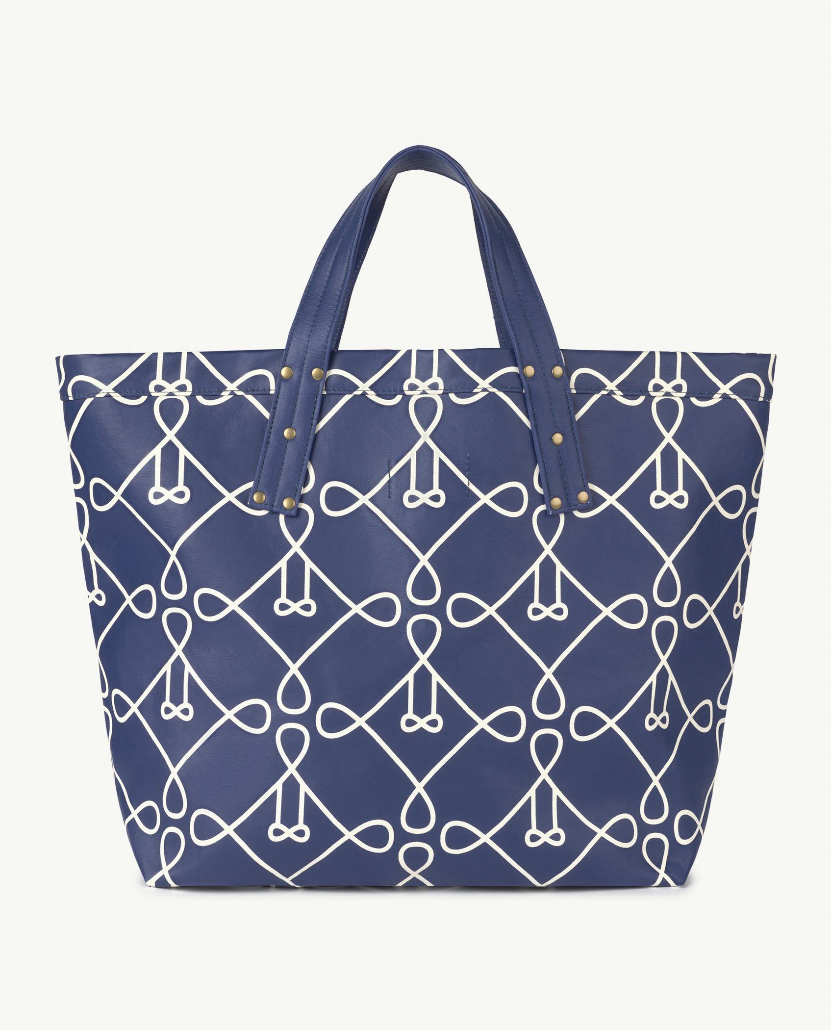 Blue Canvas Tote Bag img-2