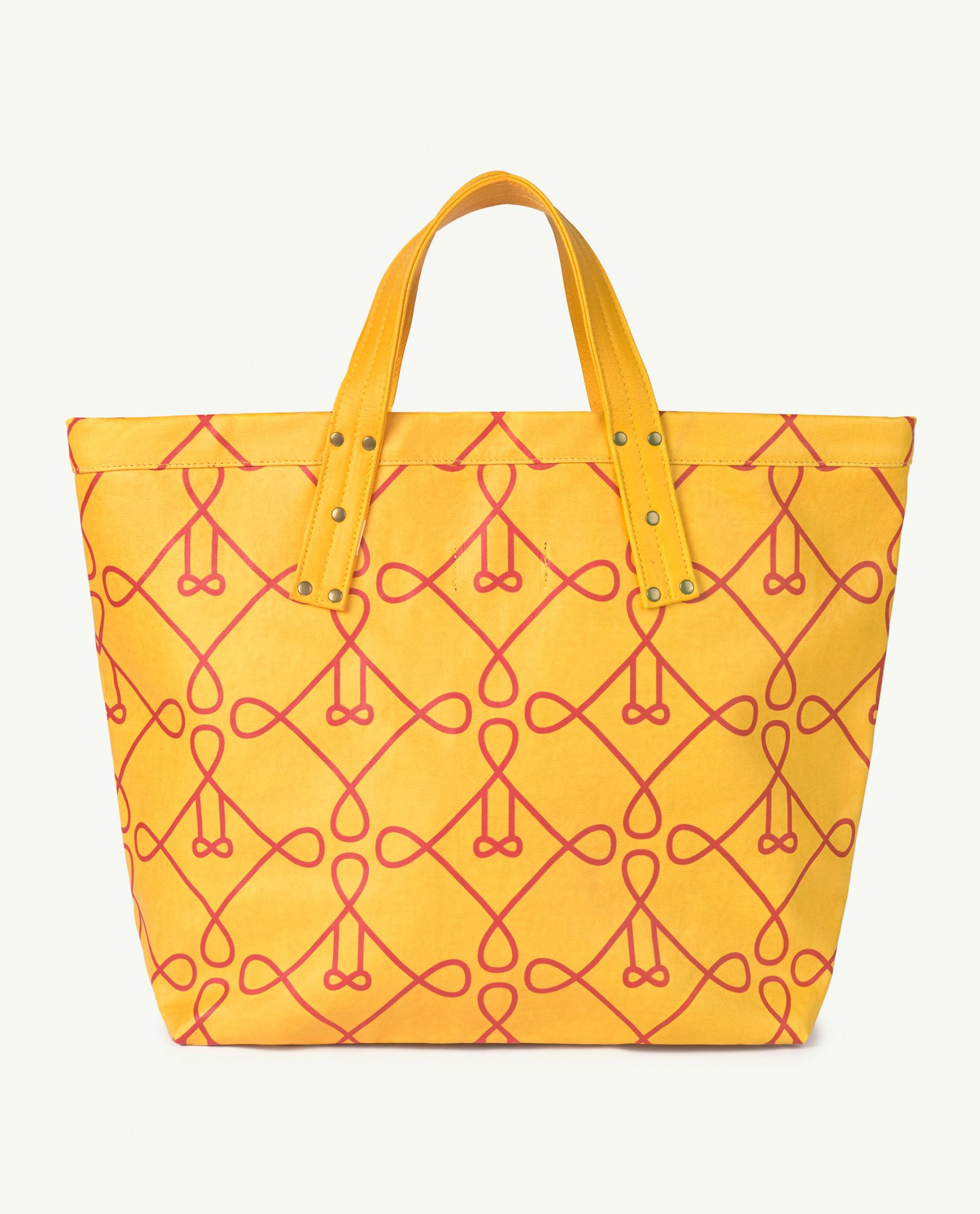 Yellow Canvas Tote Bag img-2