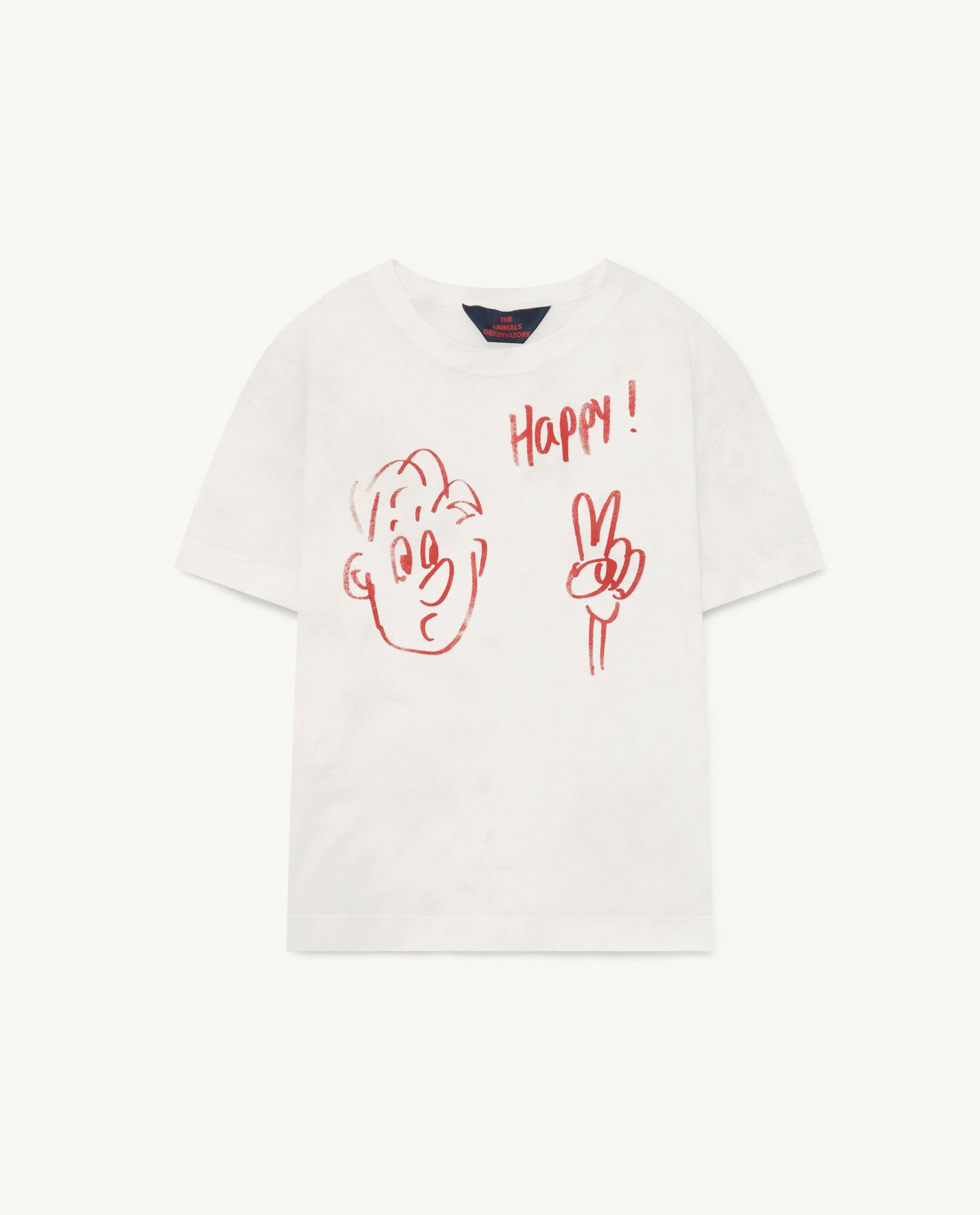 White Happy Rooster T-Shirt img-1