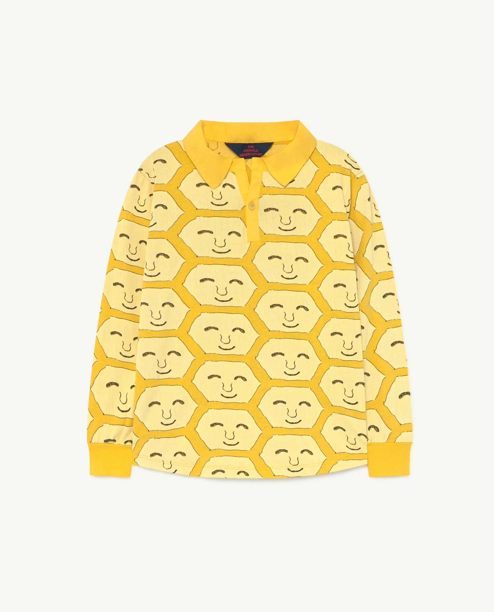 Yellow Face Eel Jersey Top img-1