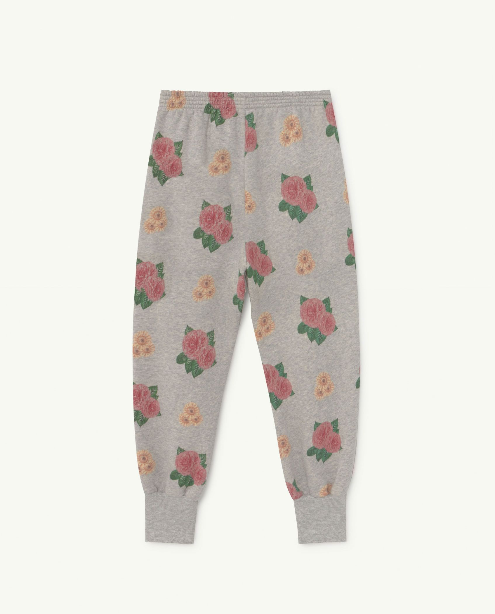 Grey Flowers Dromedary Jersey Pants img-2