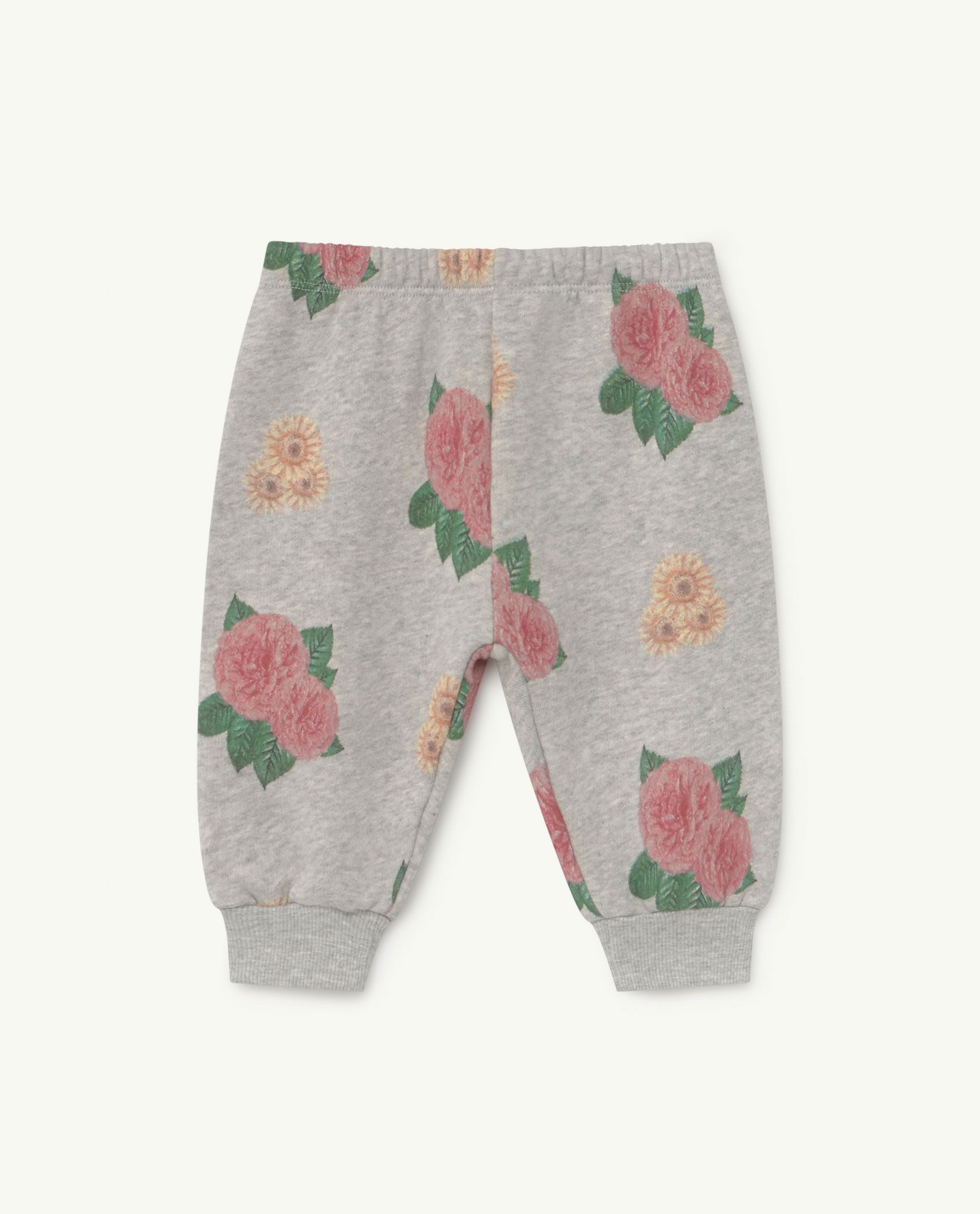 Baby Grey Flowers Dromedary Jersey Pants img-1