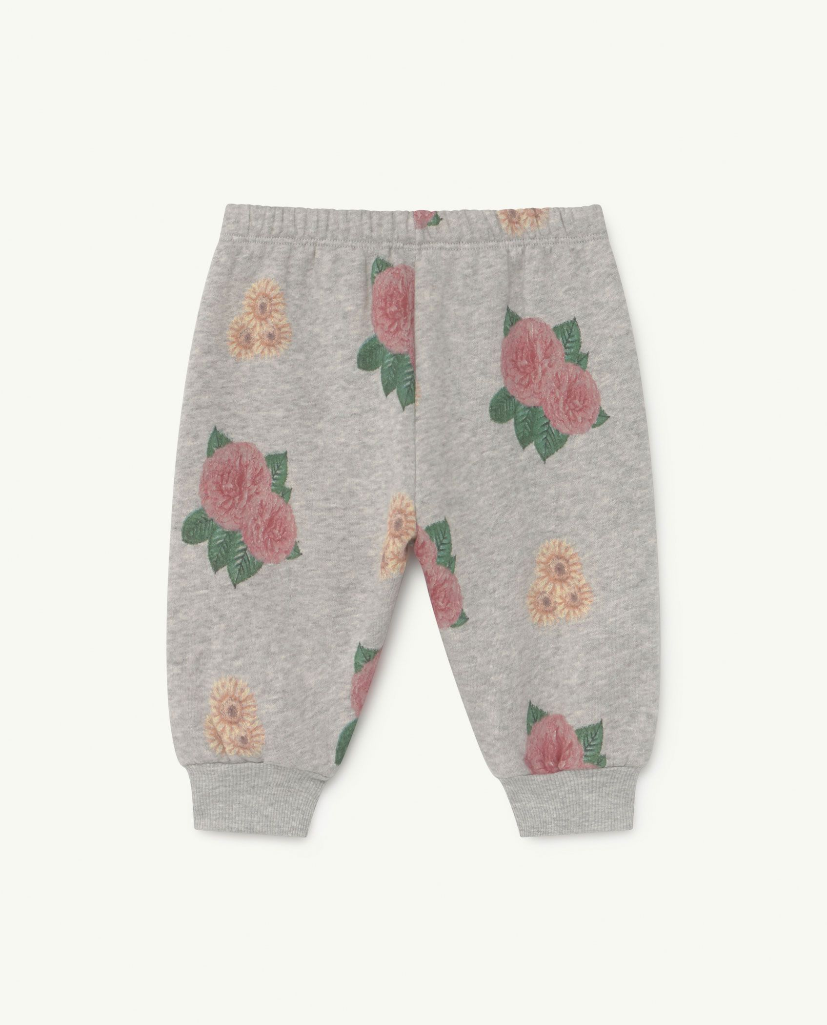 Baby Grey Flowers Dromedary Jersey Pants img-2