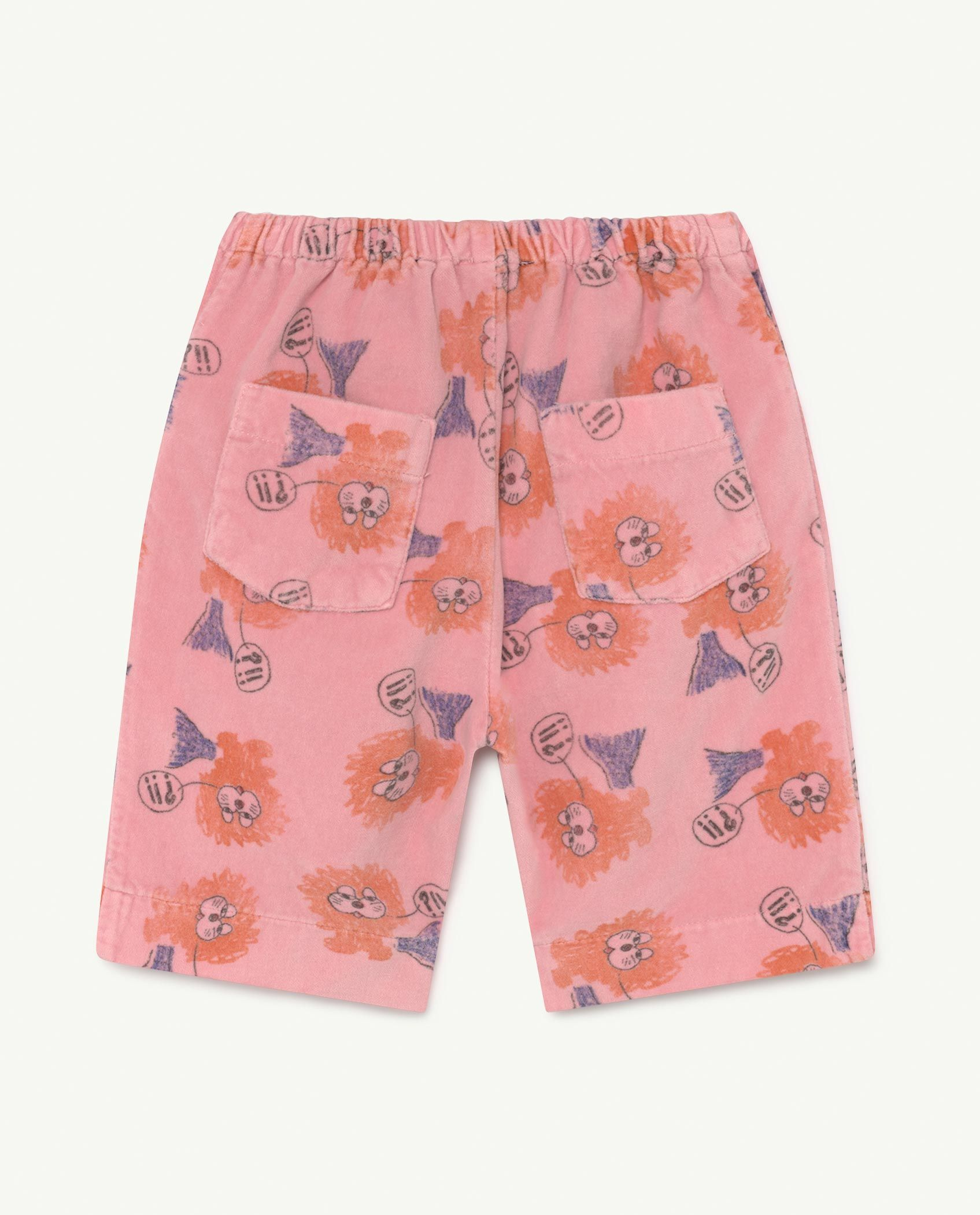 Baby Pink Lions Elephant Trousers img-2