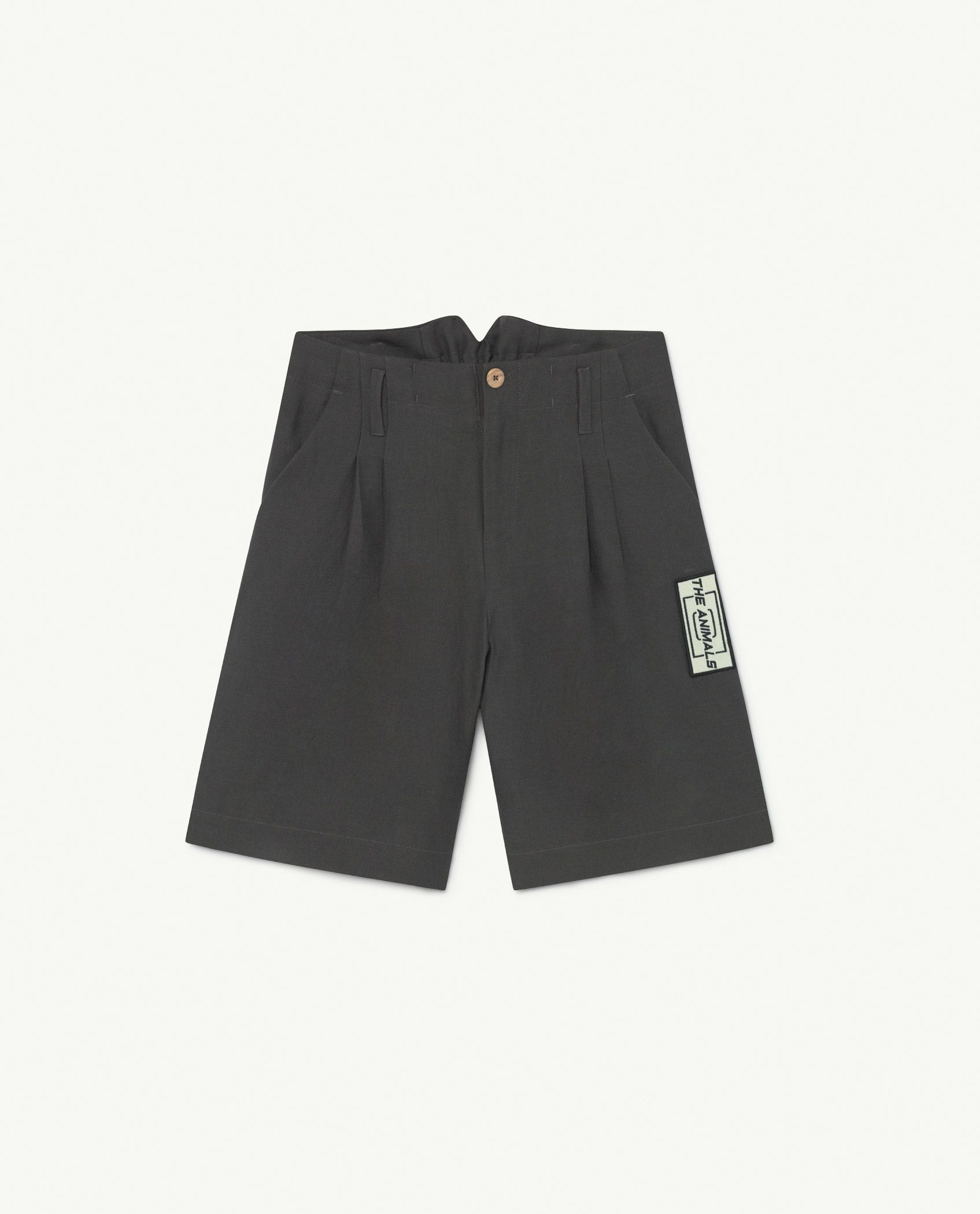 Black Animals Monkey Twill Shorts img-1