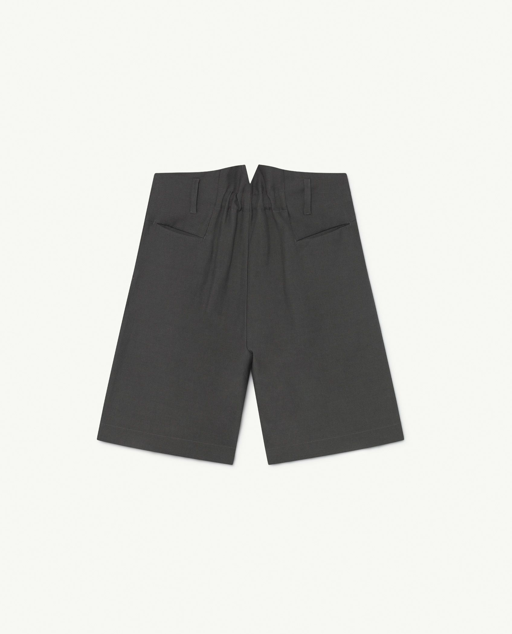 Black Animals Monkey Twill Shorts img-2