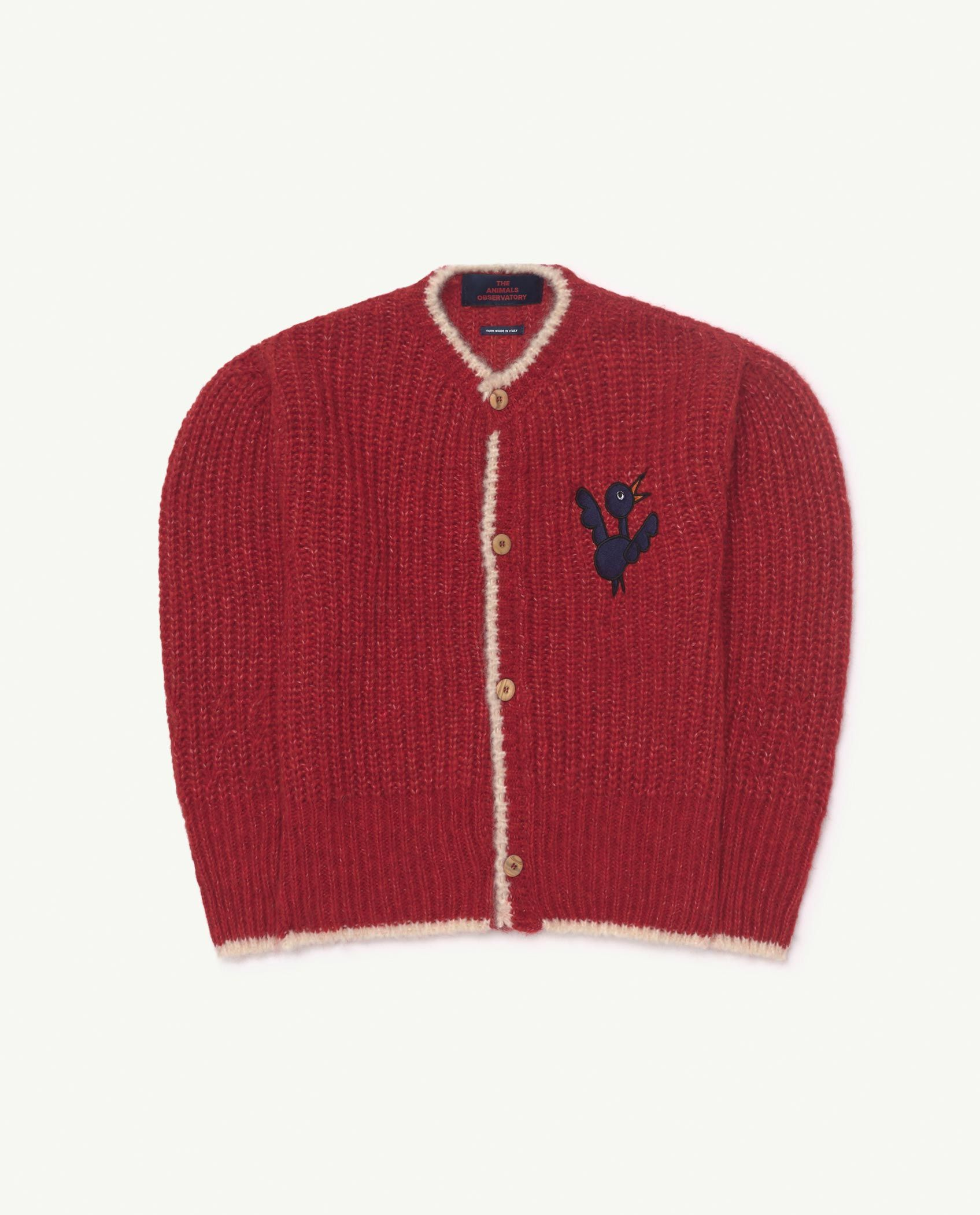 Red Bird Parrot Cardigan img-1