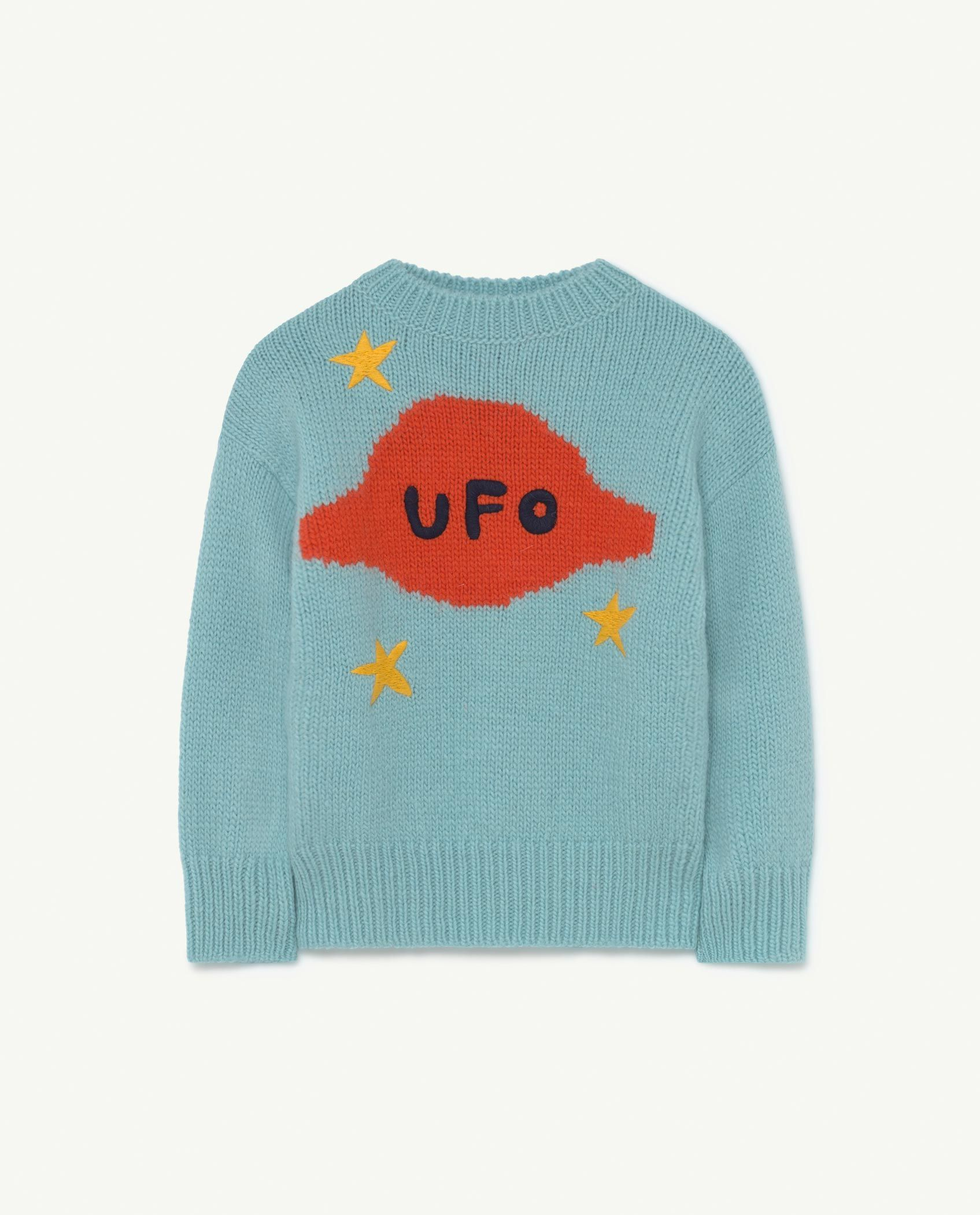 Soft Blue Space Bull Knit img-1
