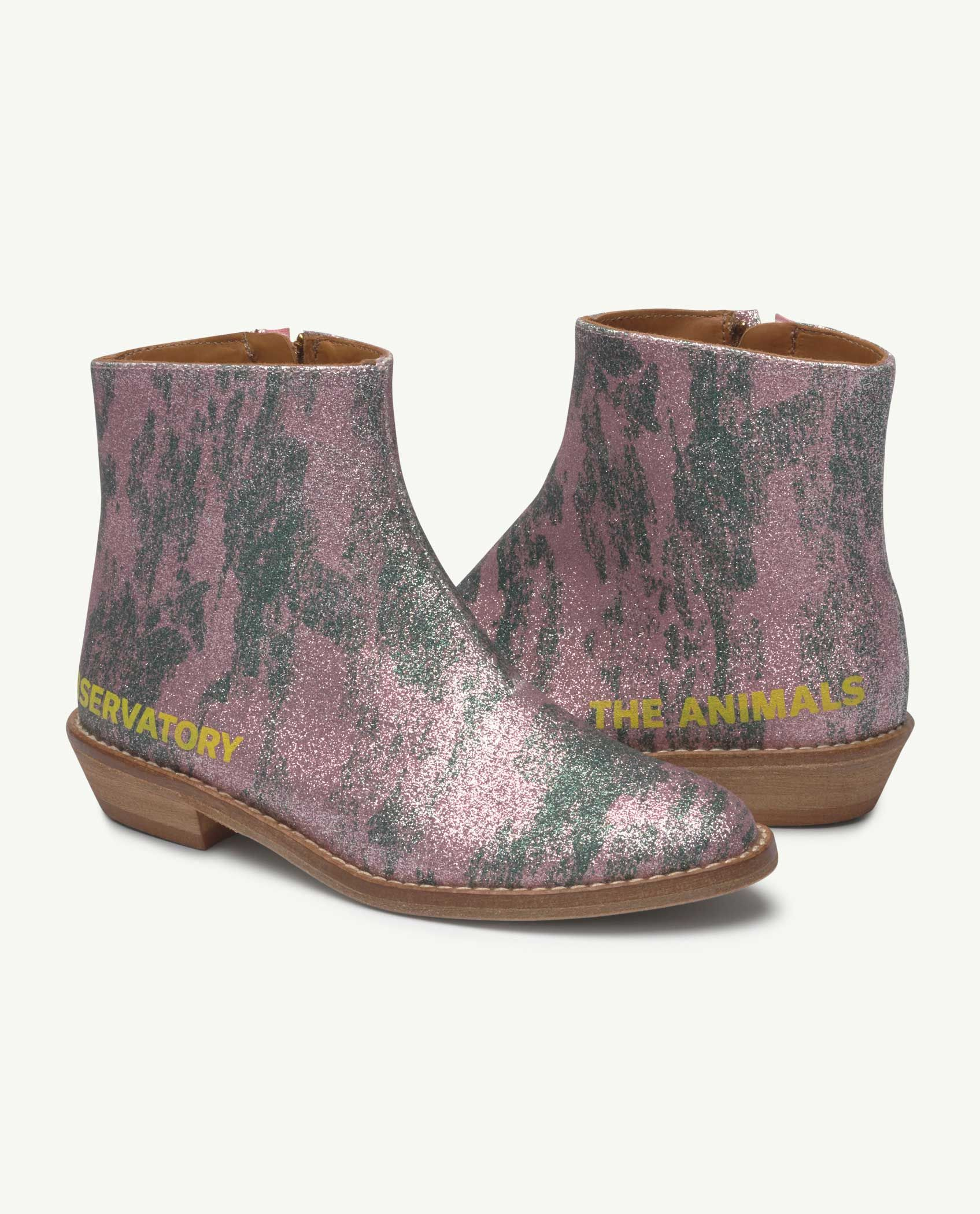 Pink Glitter Coyote Boot img-1