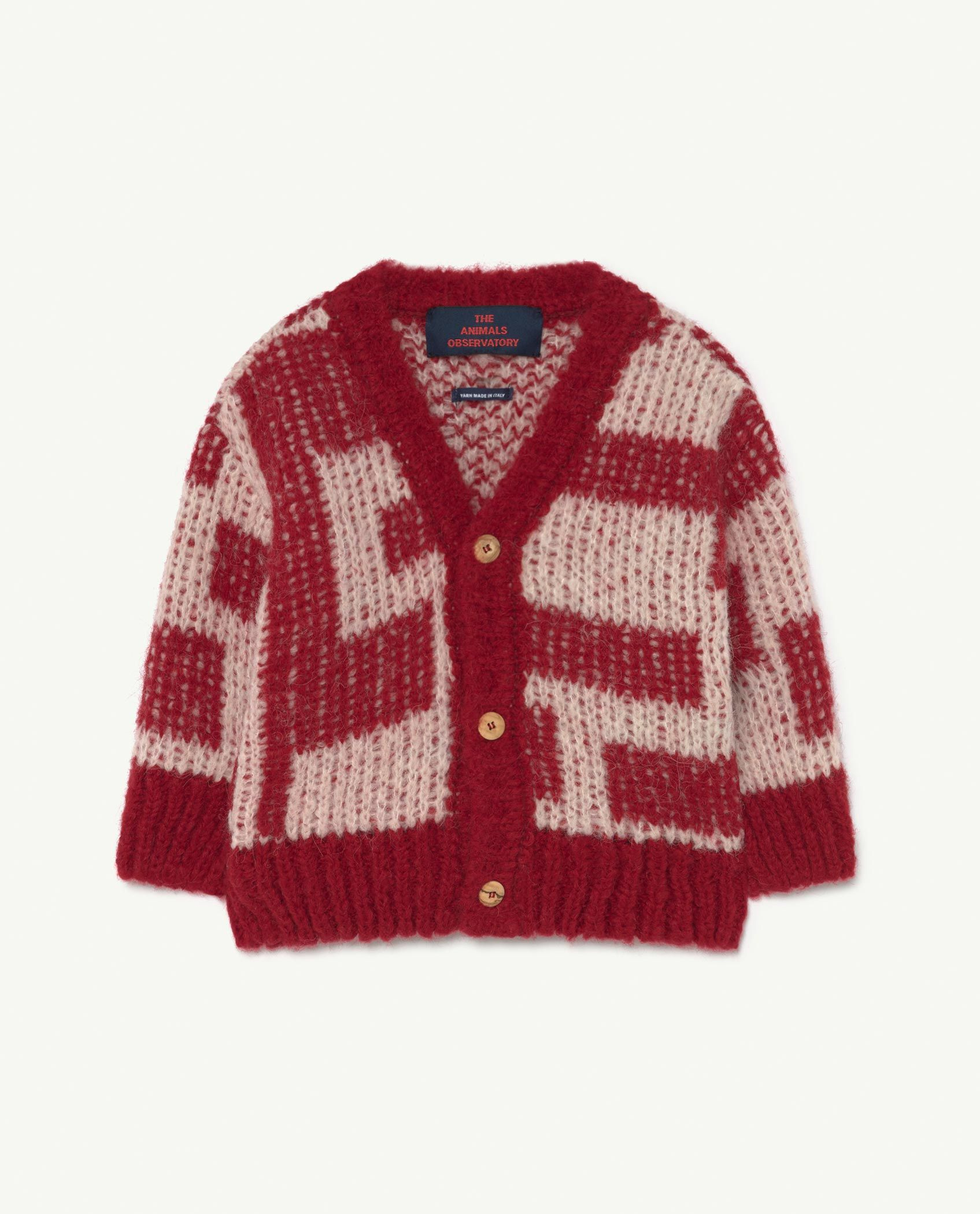 Baby Red Racoon Cardigan img-1