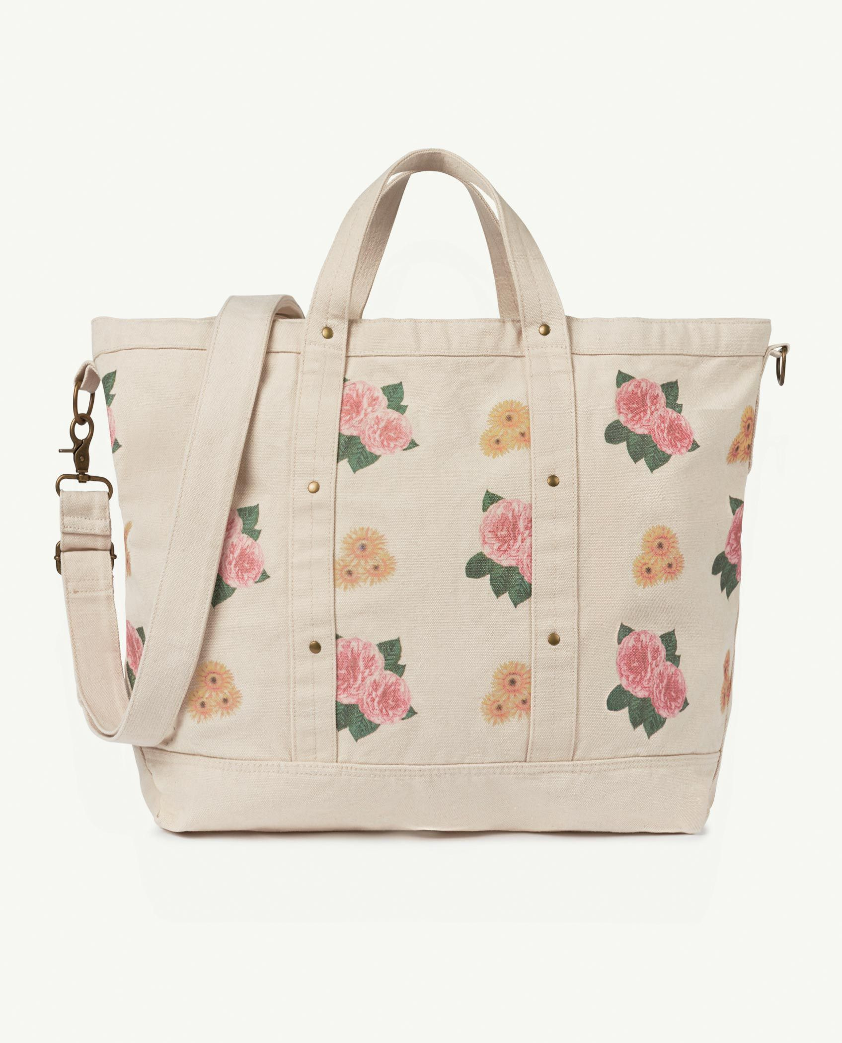 Big White Flowers Canvas Bag img-1