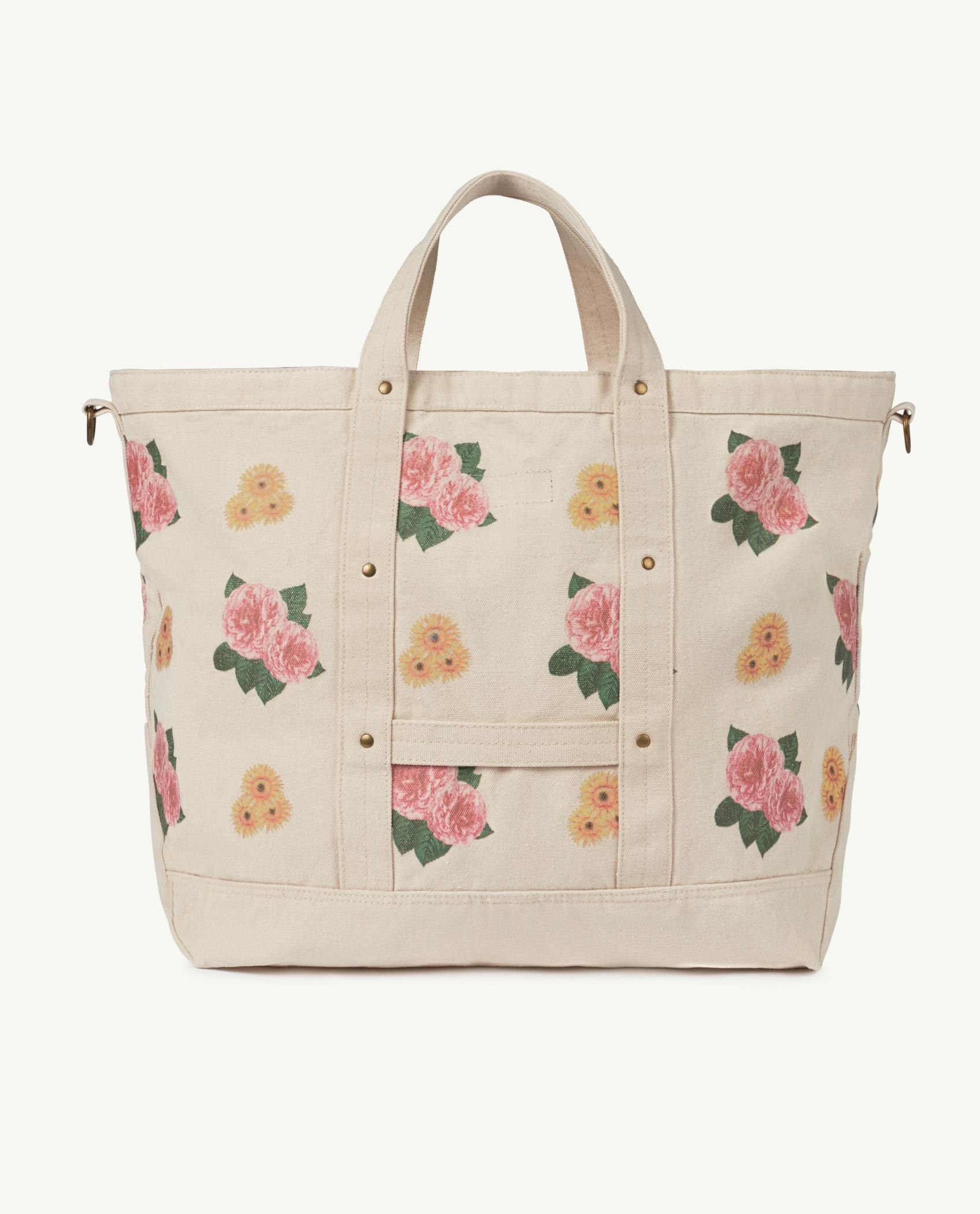 Big White Flowers Canvas Bag img-2