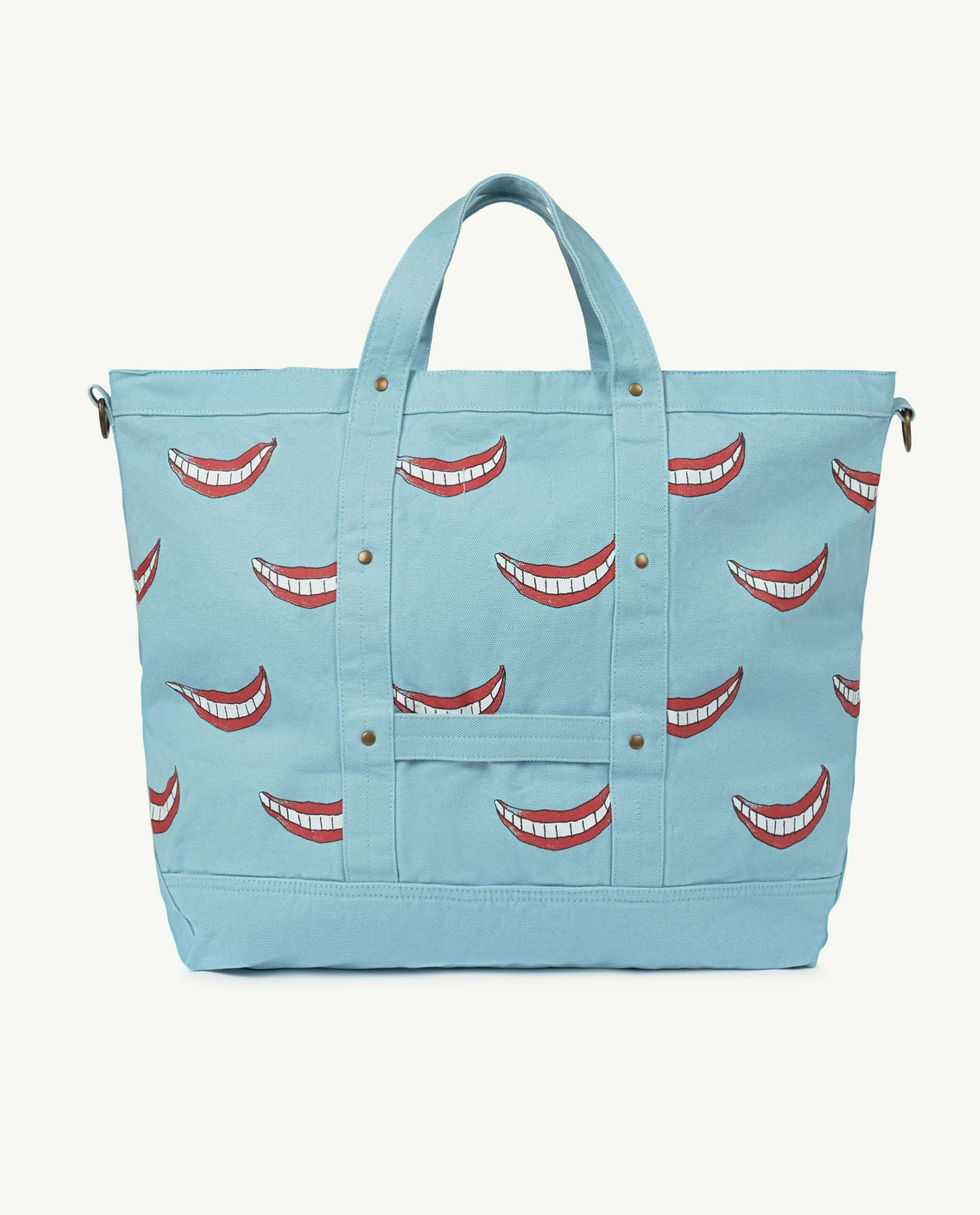 Big Blue Smile Canvas Bag img-2