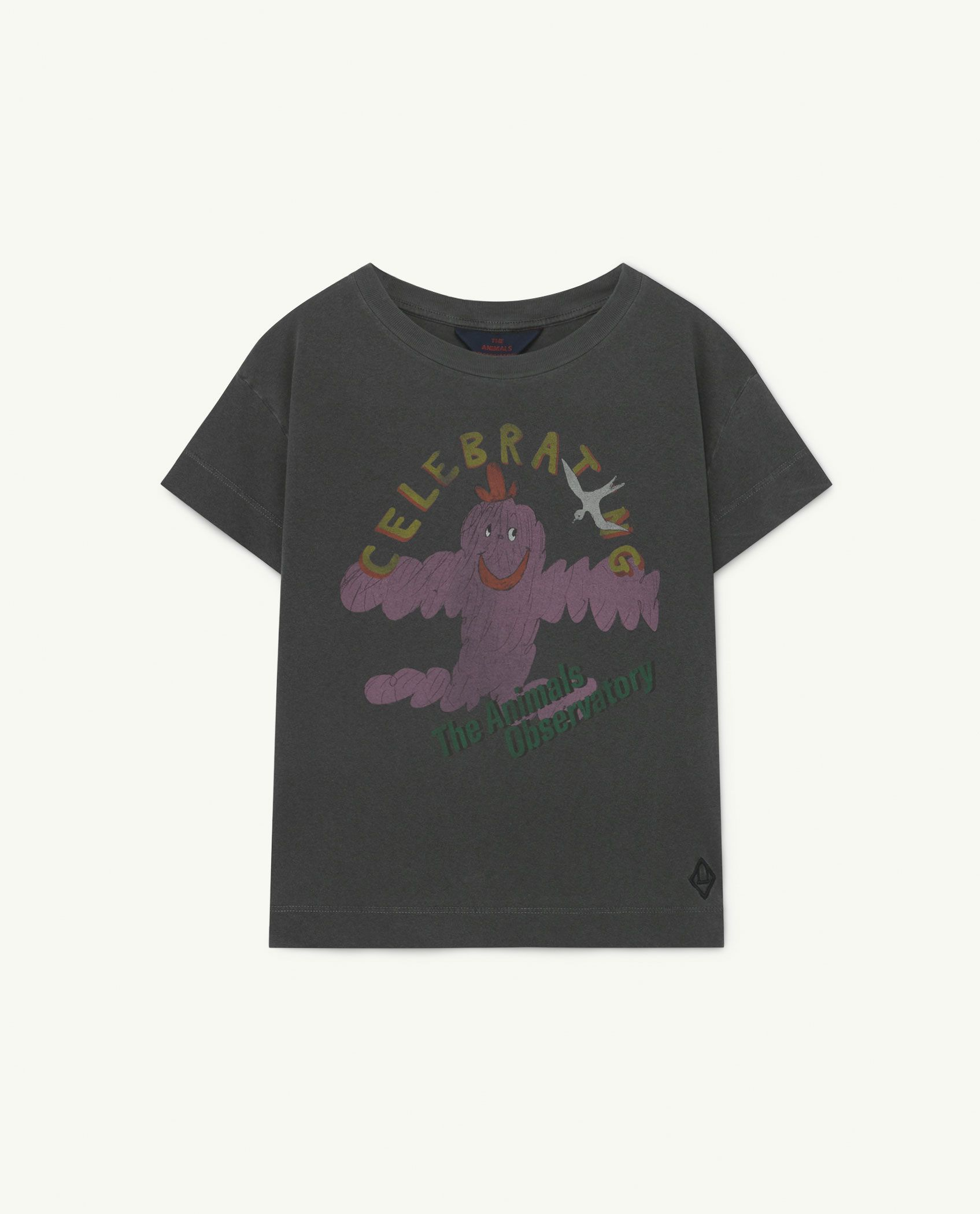 Soft Grey Celebrate Rooster T-Shirt img-1