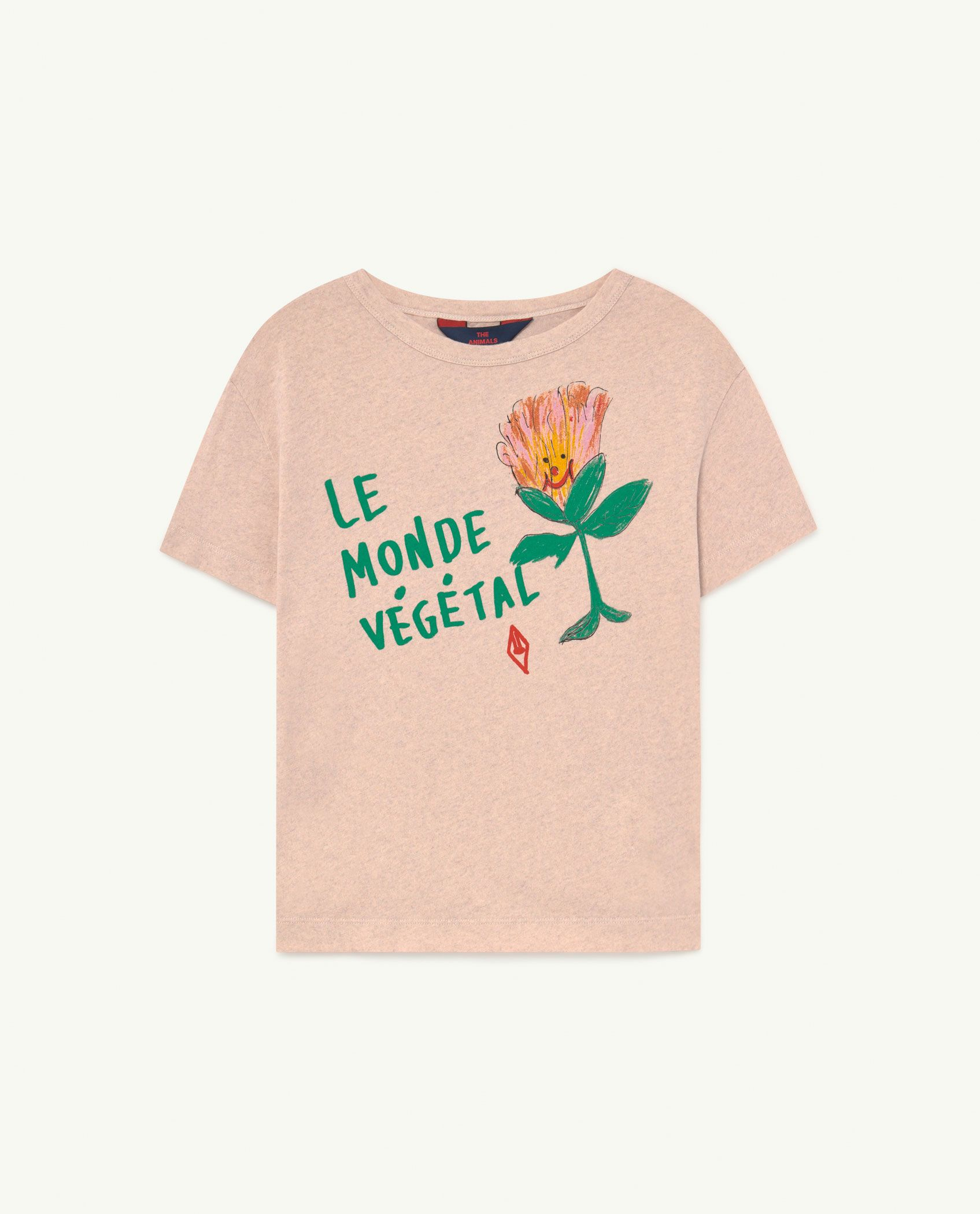Recycled Soft Pink Le Monde Rooster T-Shirt img-1