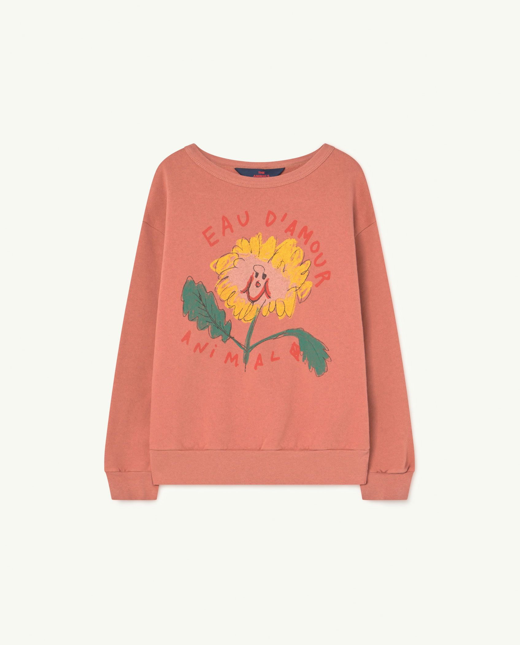 Recycled Soft Rose Eau d'Amour Bear Sweatshirt img-1
