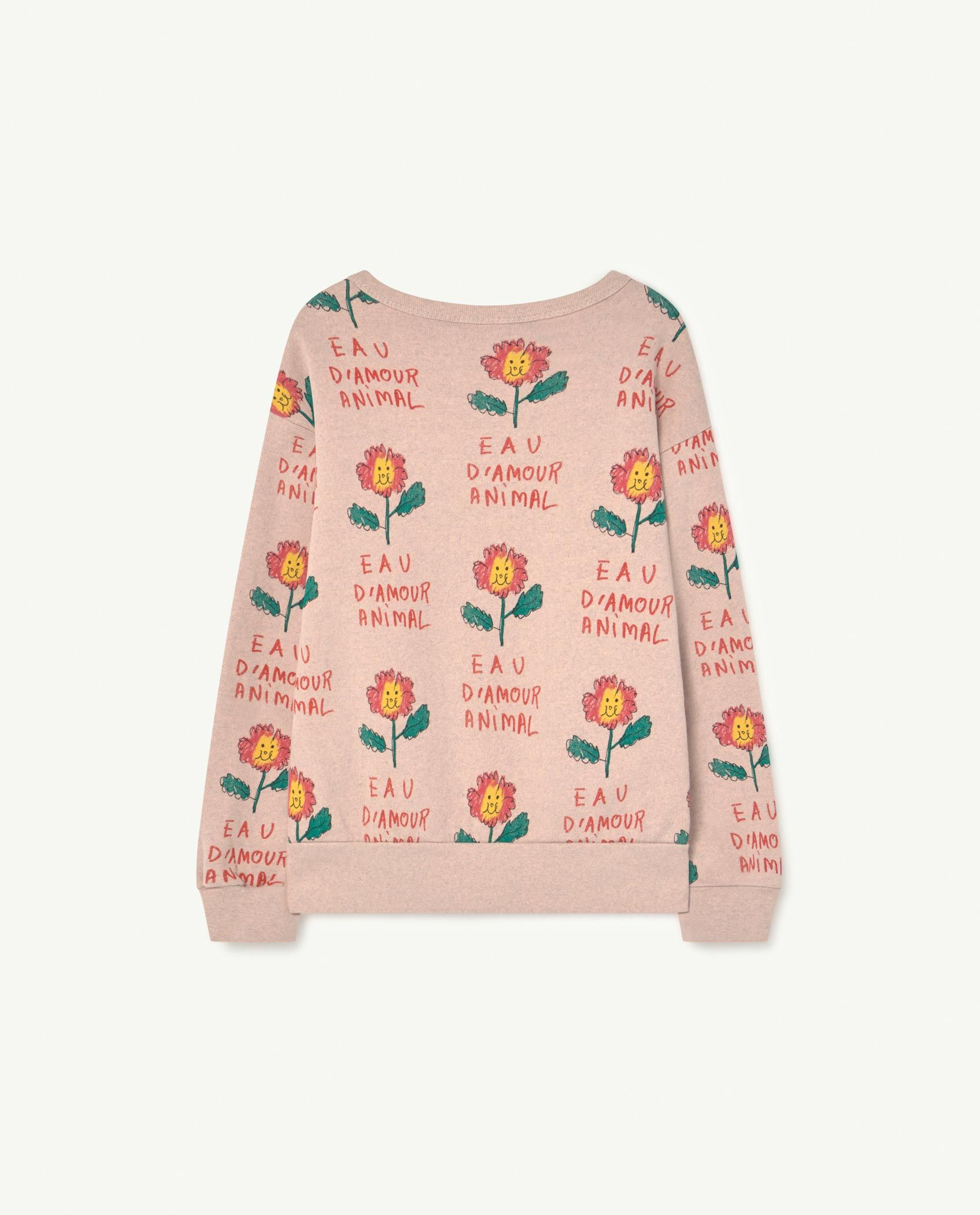 Recycled Soft Pink Flowers Bear Sweatshirt img-2