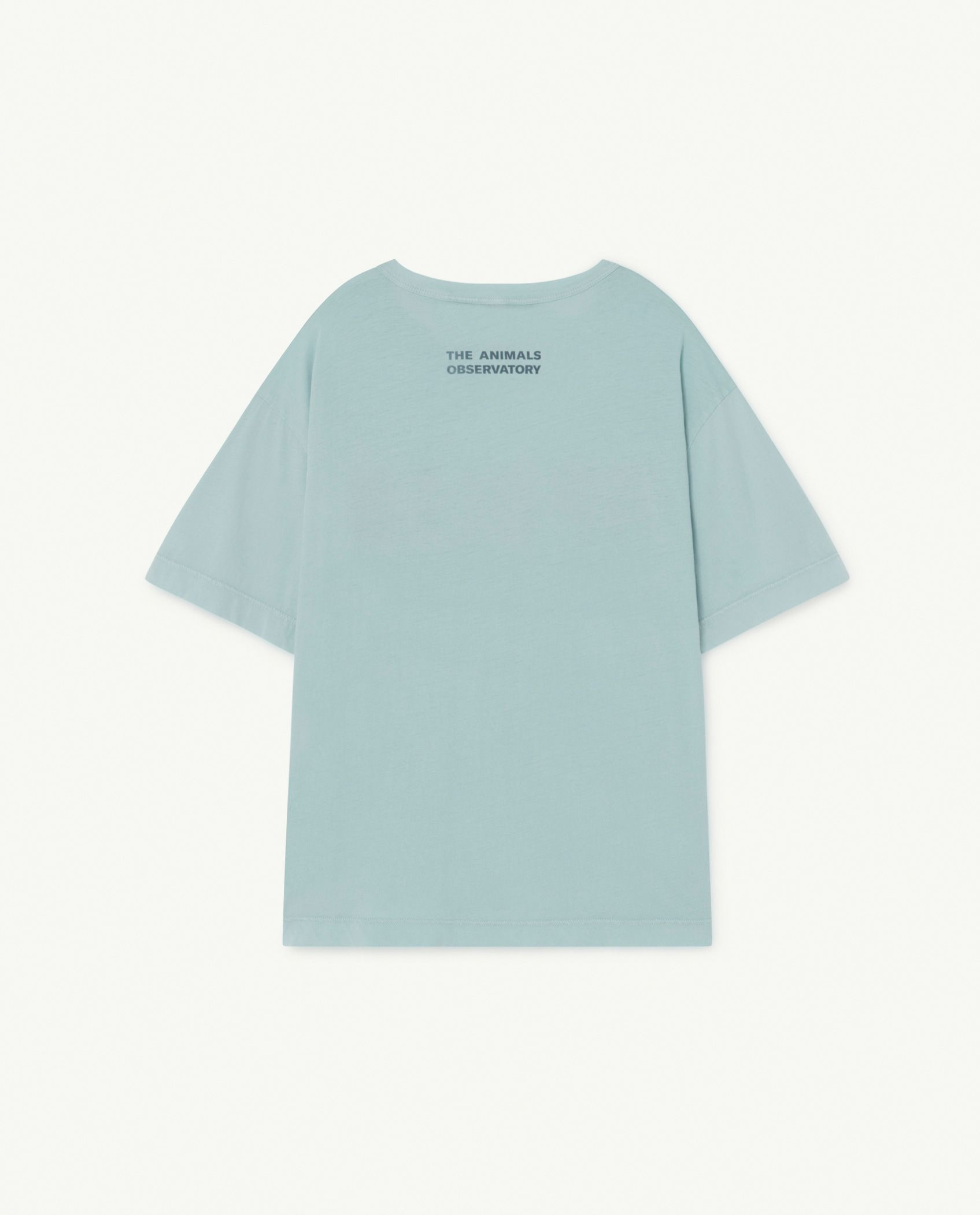 Soft Blue Apollo Rooster Oversize T-Shirt img-2