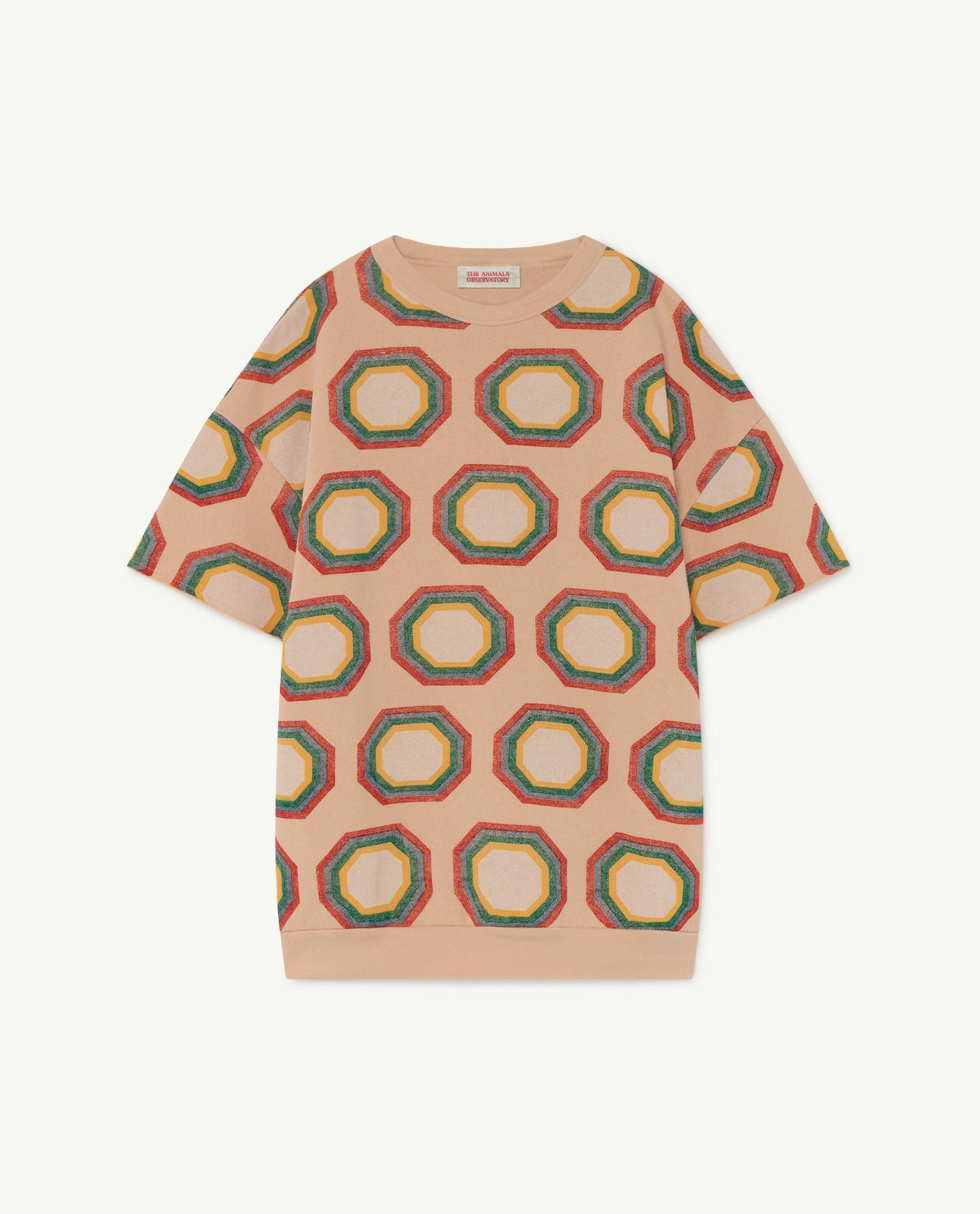Soft Pink Octagon Whale Dress img-1