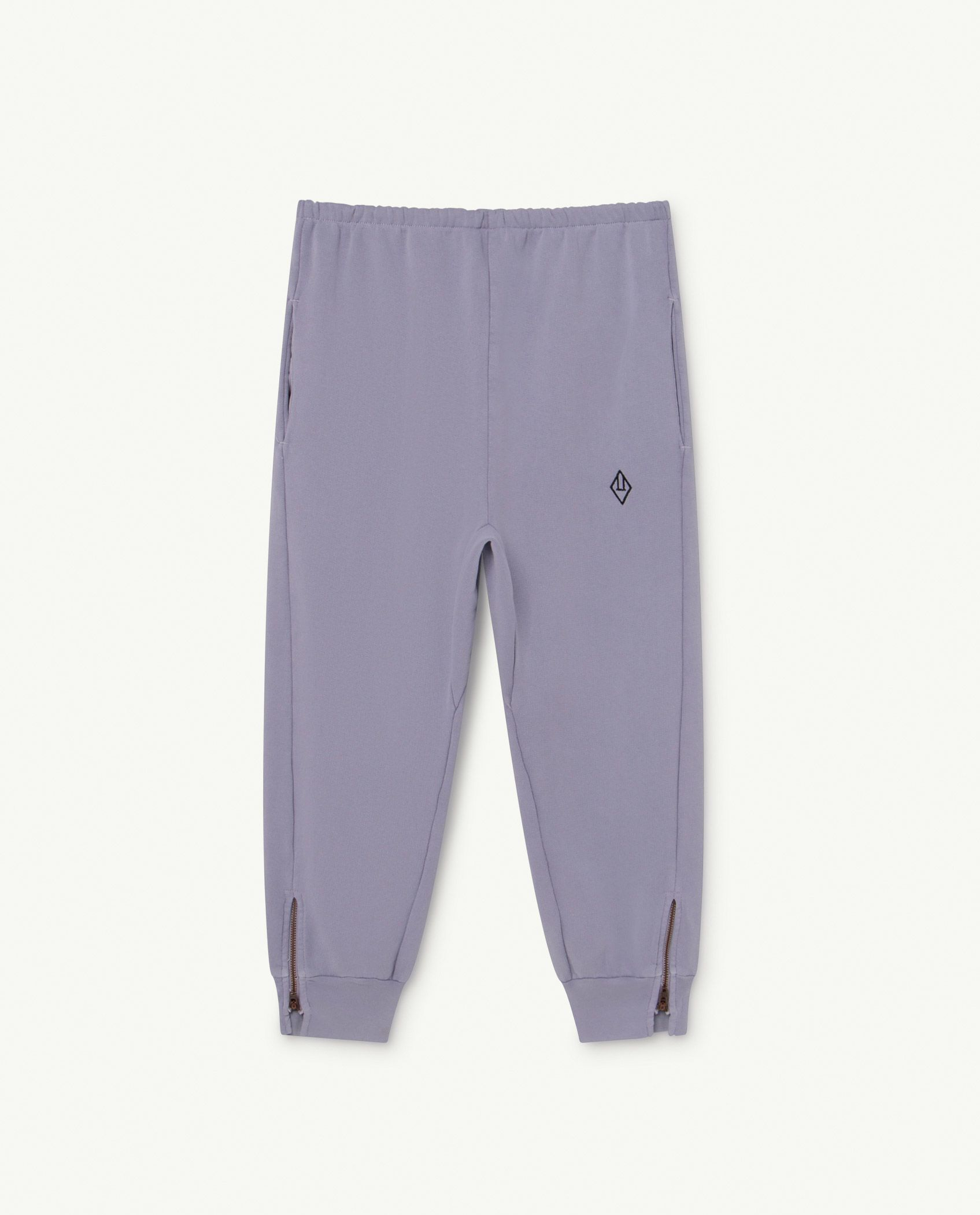 Soft Purple Logo Panther Trousers img-1
