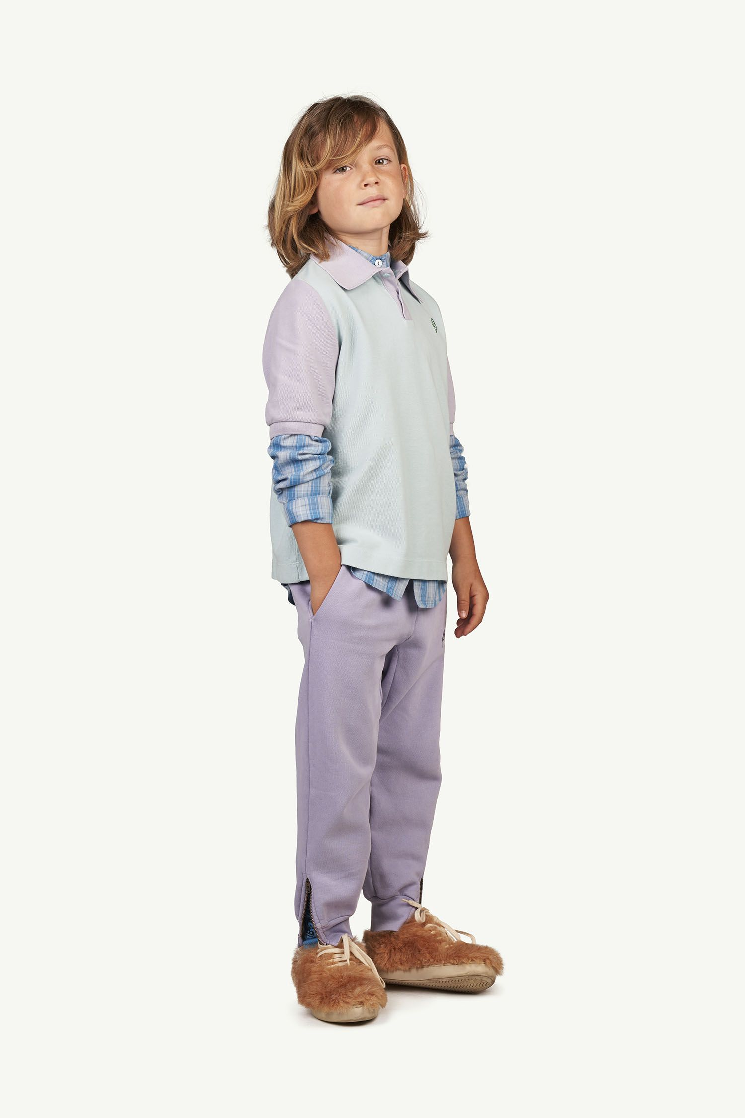 Soft Purple Logo Panther Trousers img-4