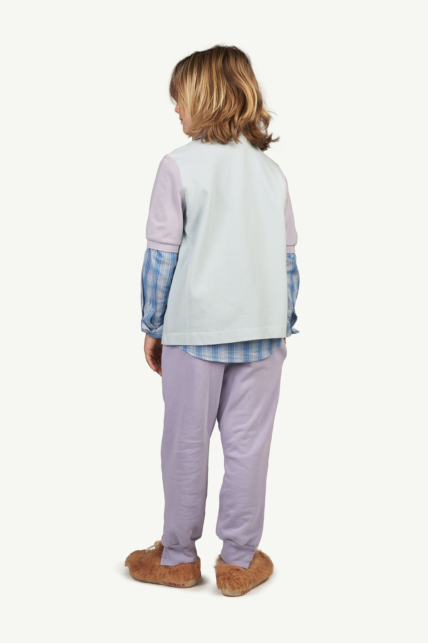 Soft Purple Logo Panther Trousers img-6