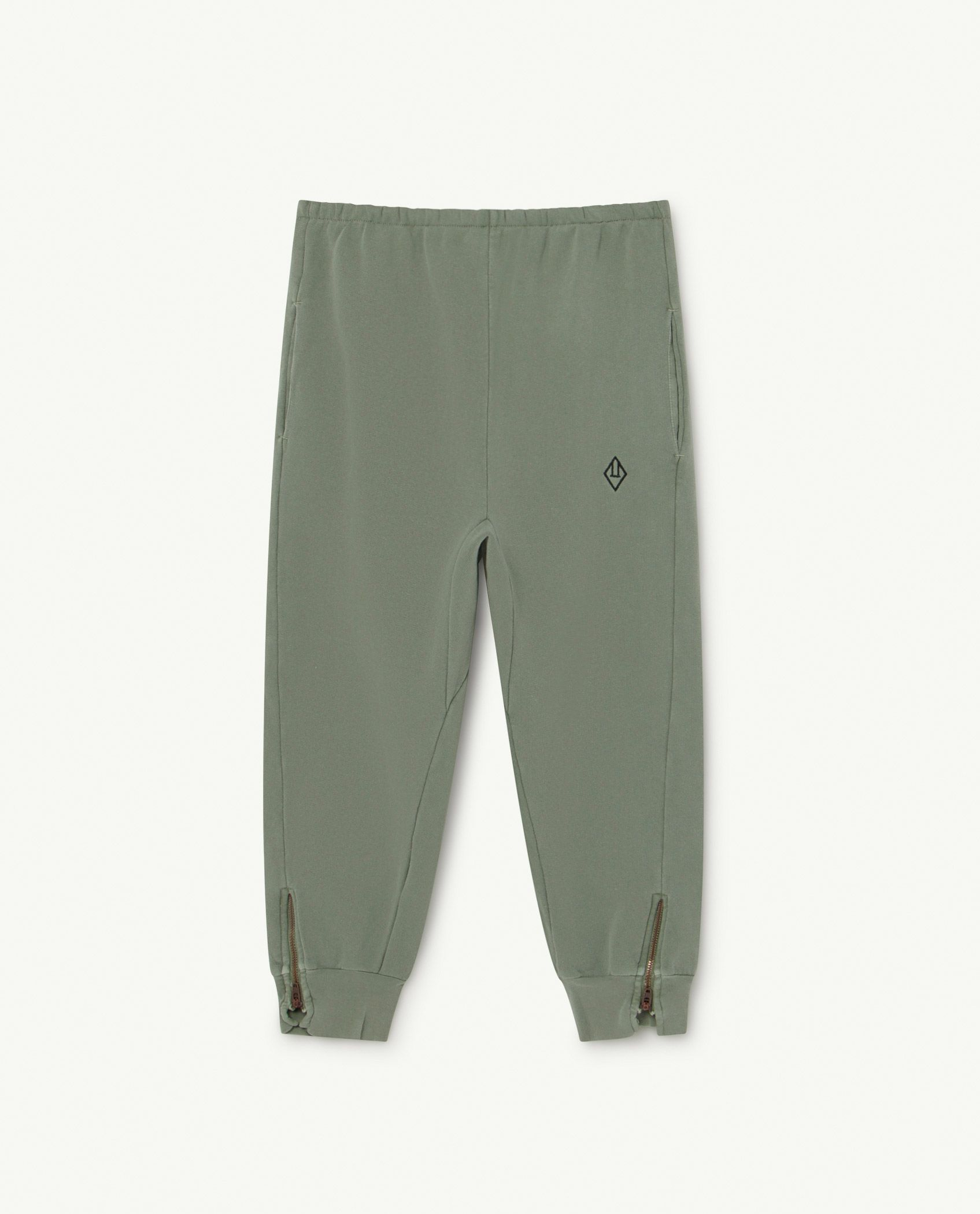 Soft Green Logo Panther Trousers img-1