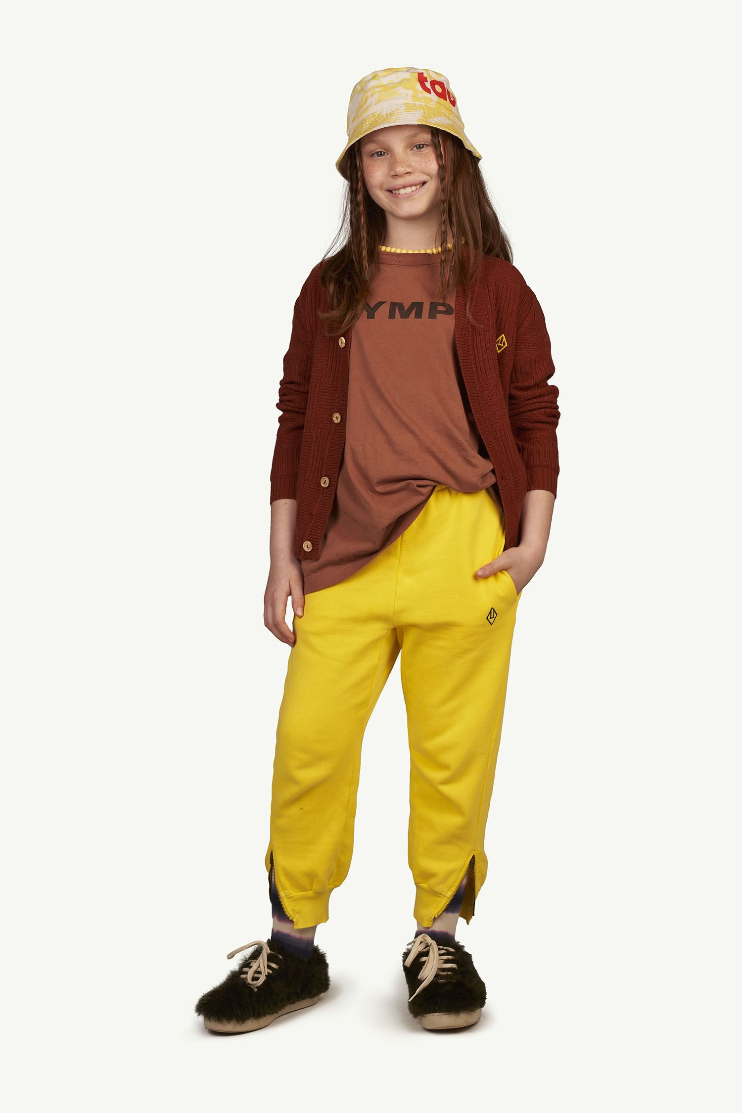 Yellow Logo Panther Trousers img-4