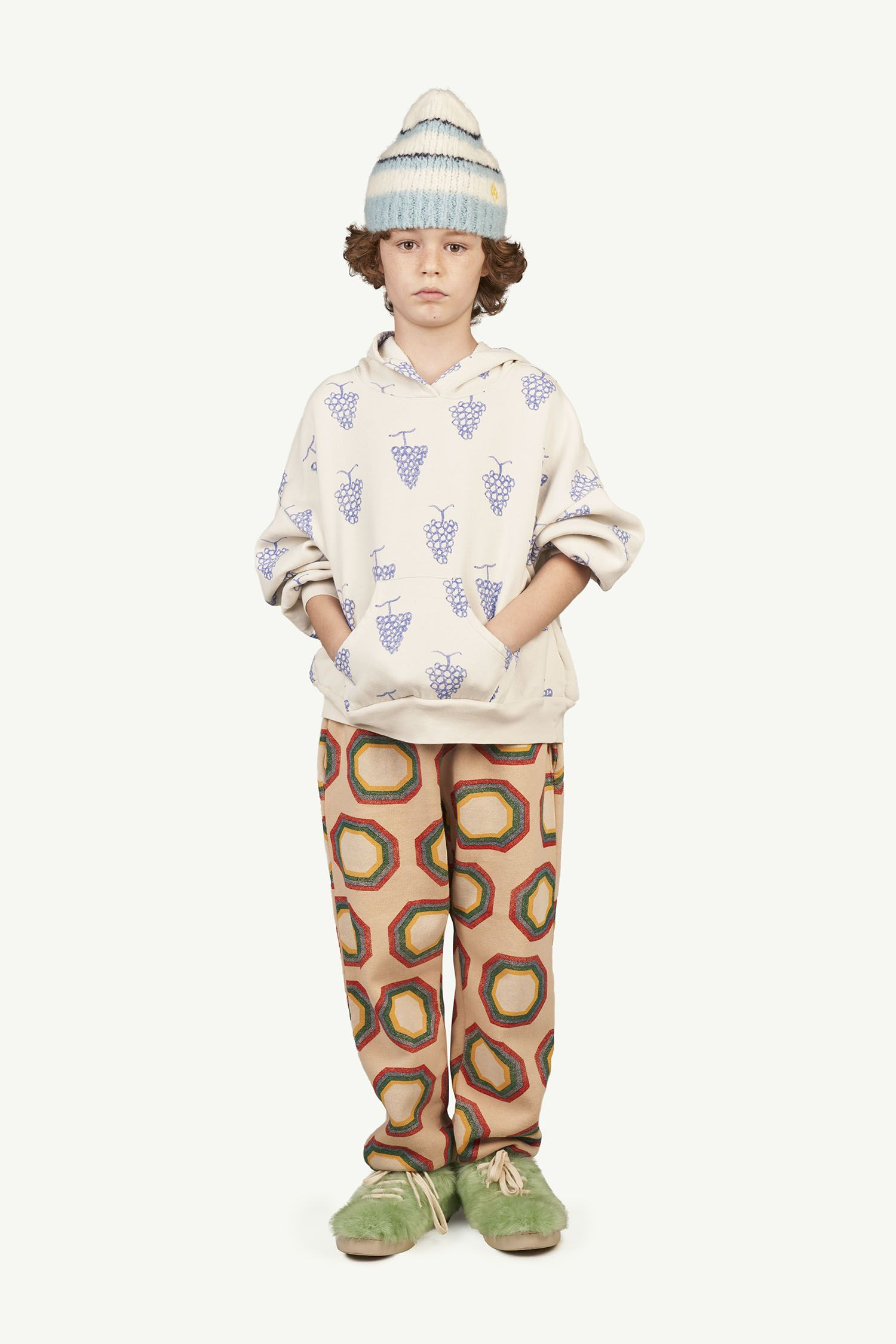 Soft Pink Octagon Dromedary Trousers img-4